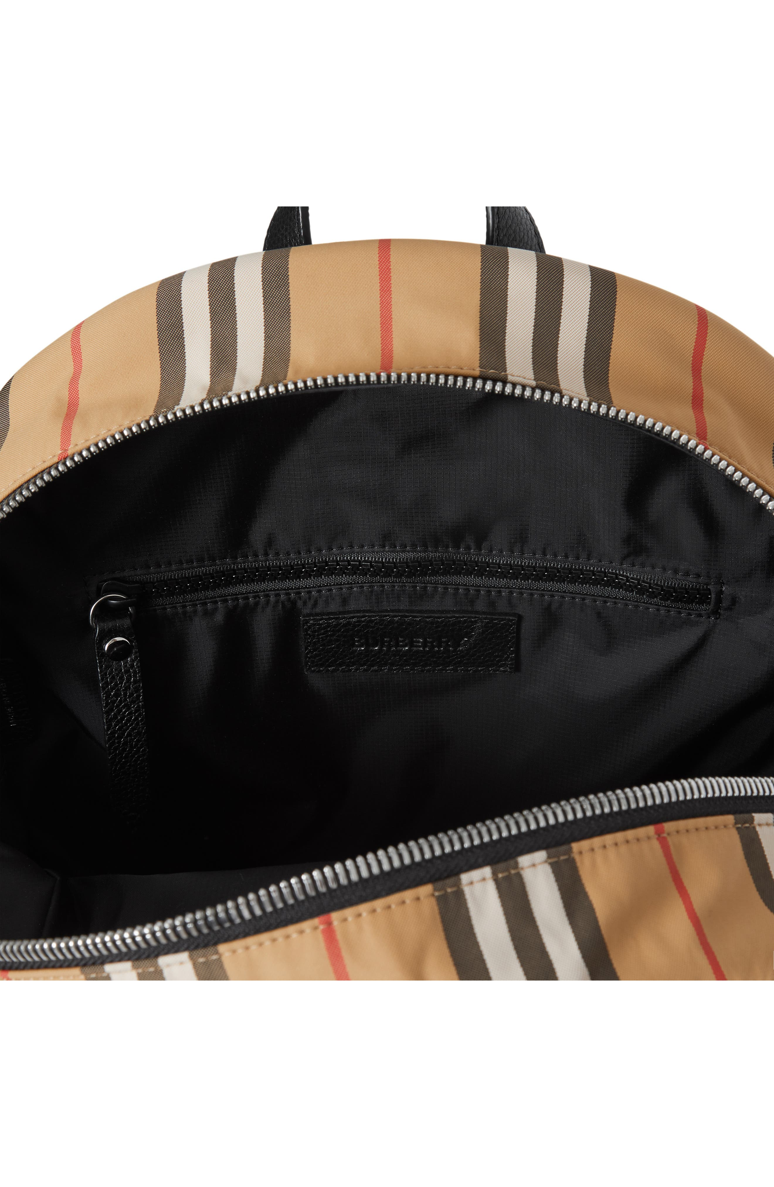 BURBERRY, Nico Archive Stripe Backpack, Alternate thumbnail 3, color, ARCHIVE BEIGE