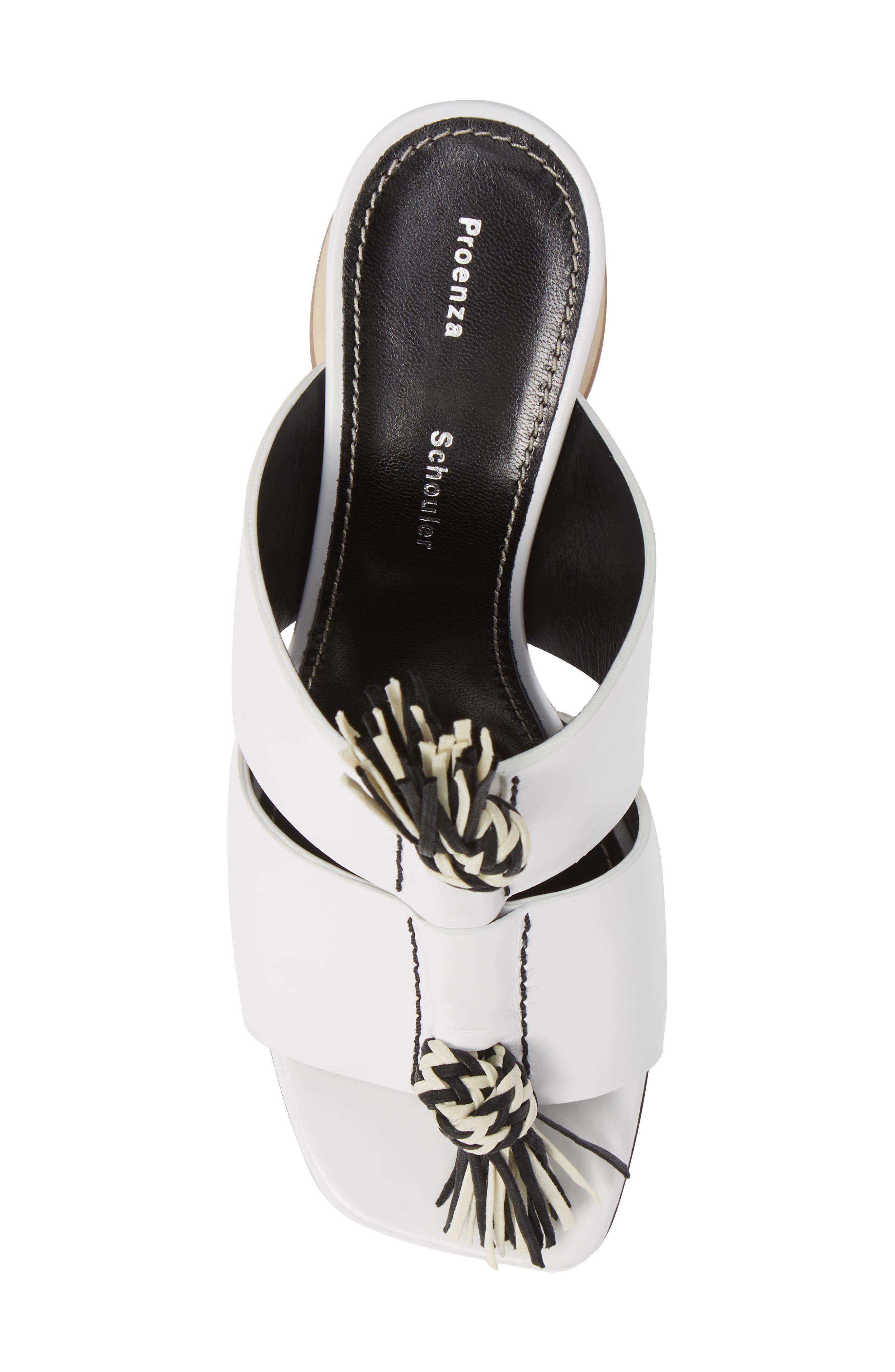 PROENZA SCHOULER, Cylinder Heel Slide Sandal, Alternate thumbnail 5, color, WHITE