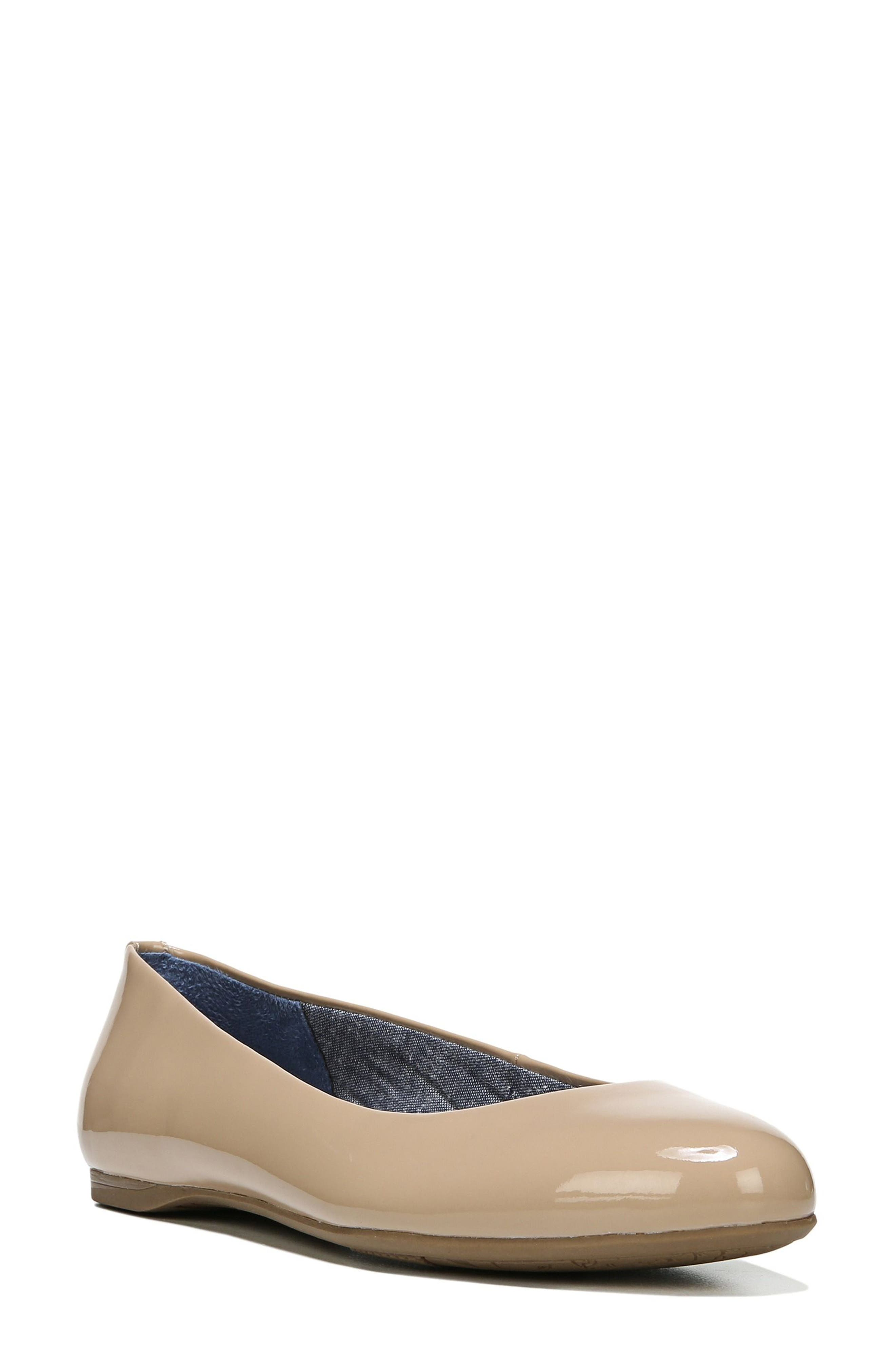 DR. SCHOLL'S, Giorgie Flat, Main thumbnail 1, color, SAND FAUX LEATHER