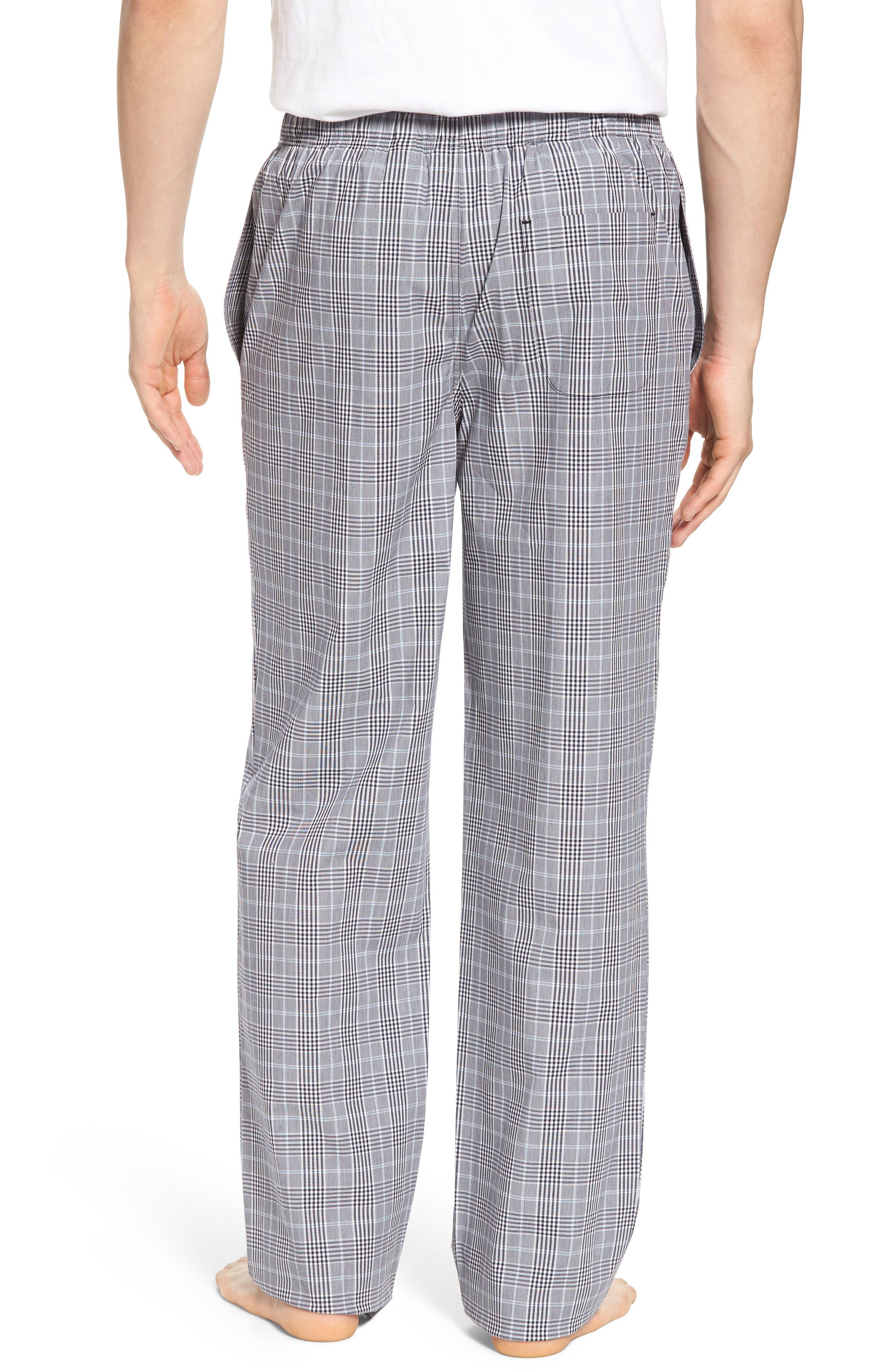 MAJESTIC INTERNATIONAL, Charleston Lounge Pants, Alternate thumbnail 2, color, BLACK PLAID