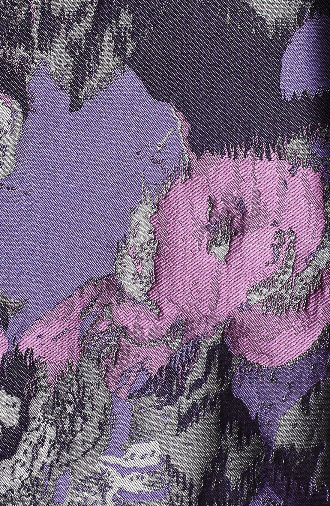 ELIZA J, Embellished Neck Metallic Jacquard Fit & Flare Dress, Alternate thumbnail 6, color, 523