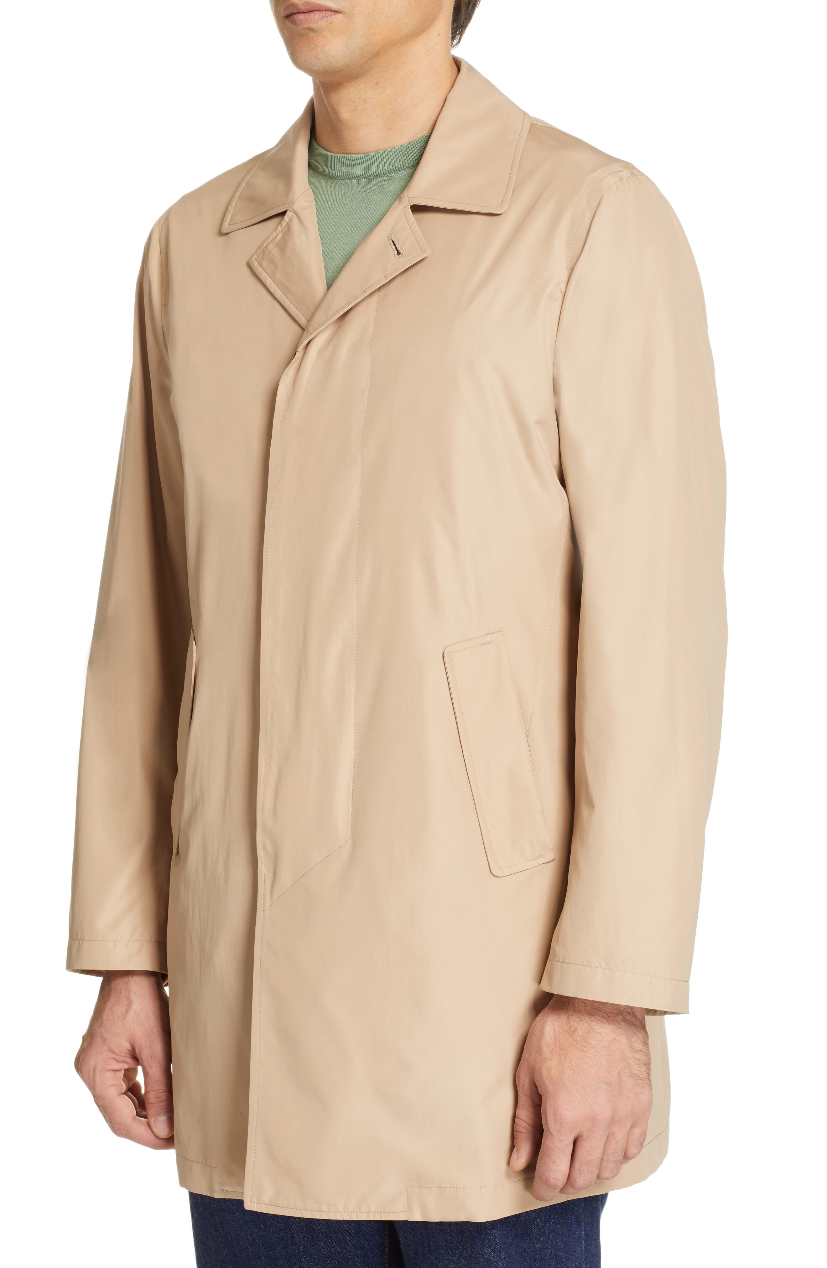 CANALI, Lightweight Overcoat, Alternate thumbnail 5, color, BEIGE