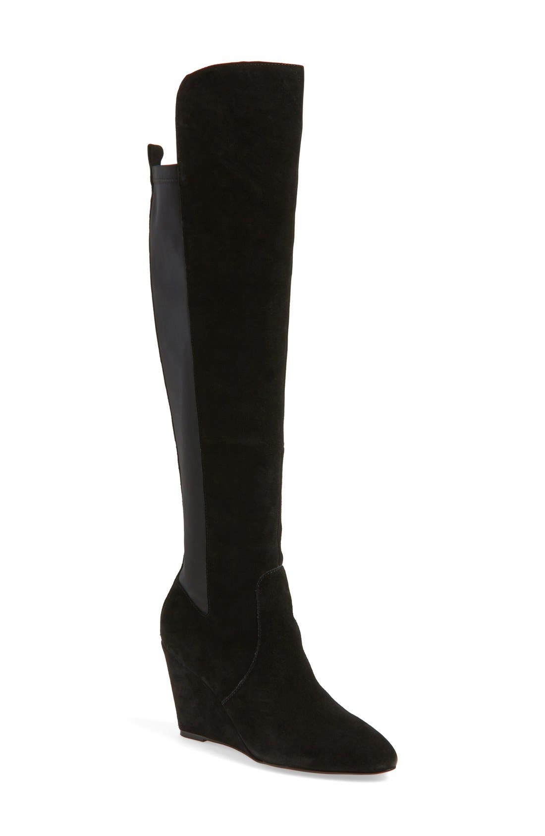 CHARLES BY CHARLES DAVID, 'Edie' Over the Knee Boot, Main thumbnail 1, color, 002
