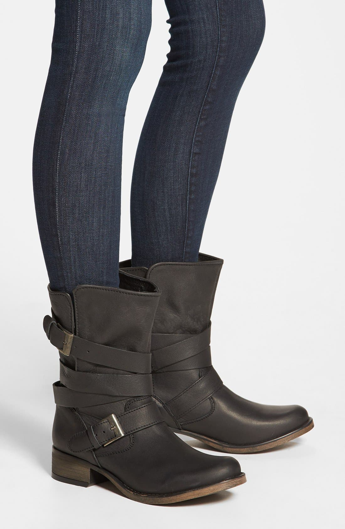 STEVE MADDEN, 'Brewzzer' Boot, Alternate thumbnail 6, color, 001