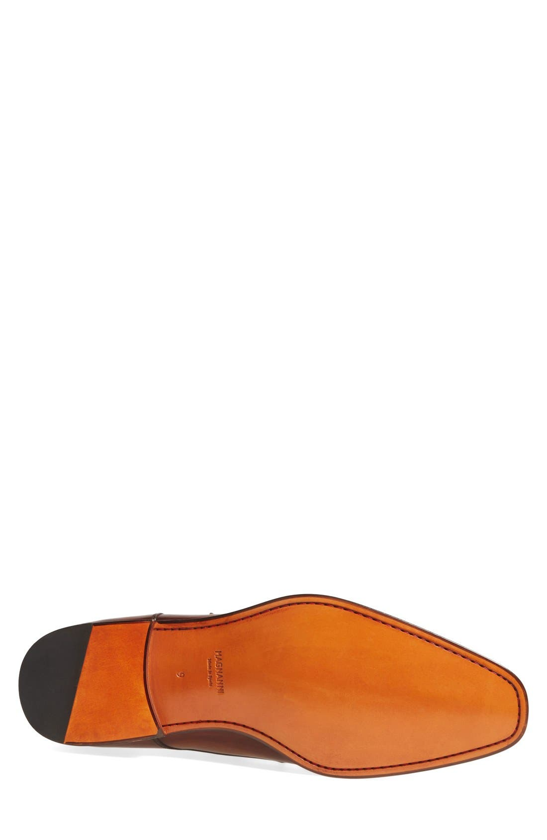 MAGNANNI, Marco Monk Strap Loafer, Alternate thumbnail 5, color, CUERO BROWN LEATHER