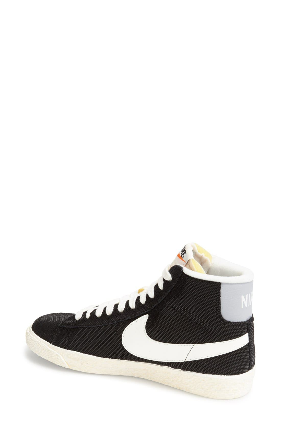 NIKE, 'Blazer' Vintage High Top Basketball Sneaker, Alternate thumbnail 4, color, 009