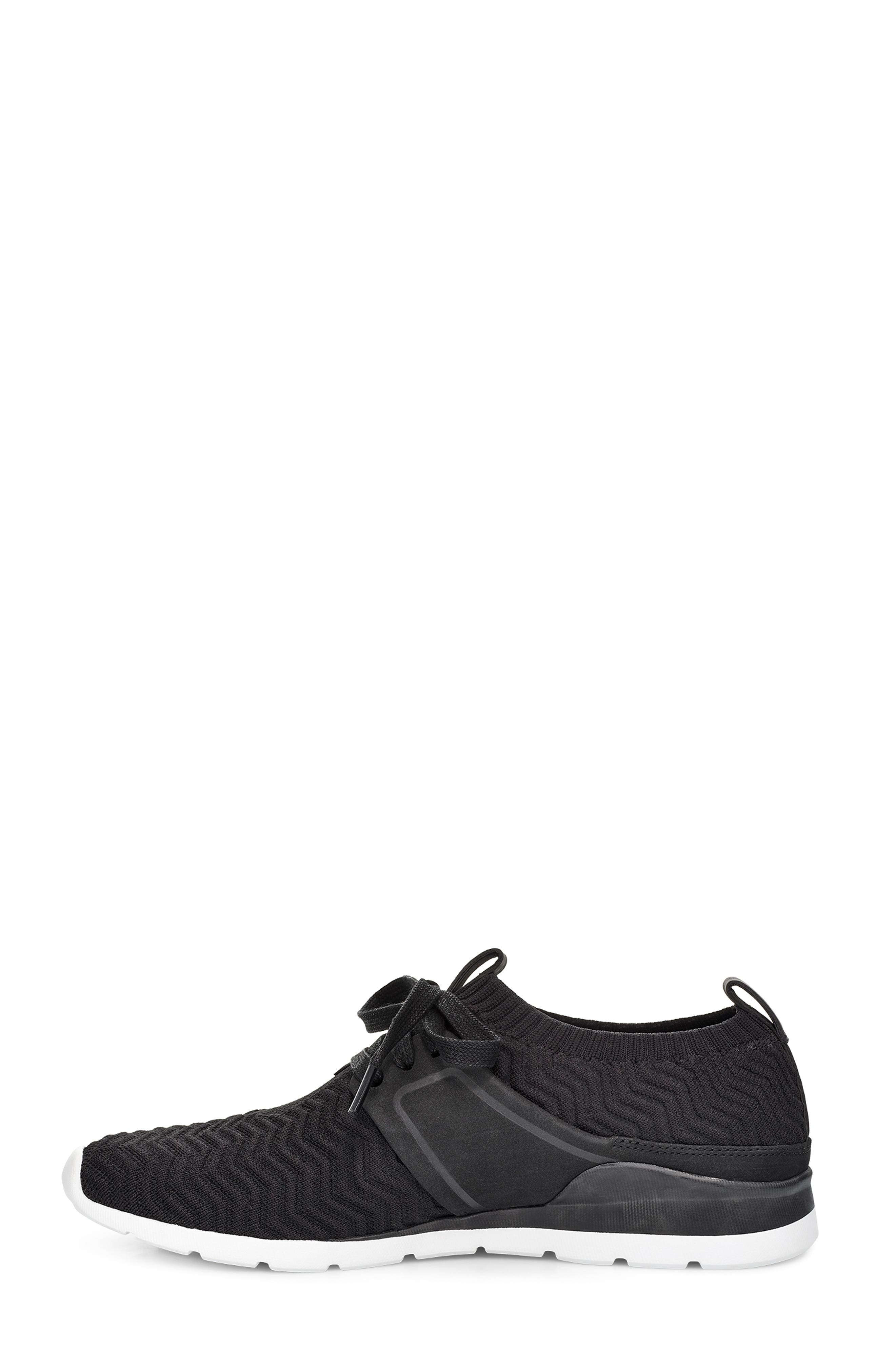 UGG<SUP>®</SUP>, Willows Sneaker, Alternate thumbnail 6, color, BLACK