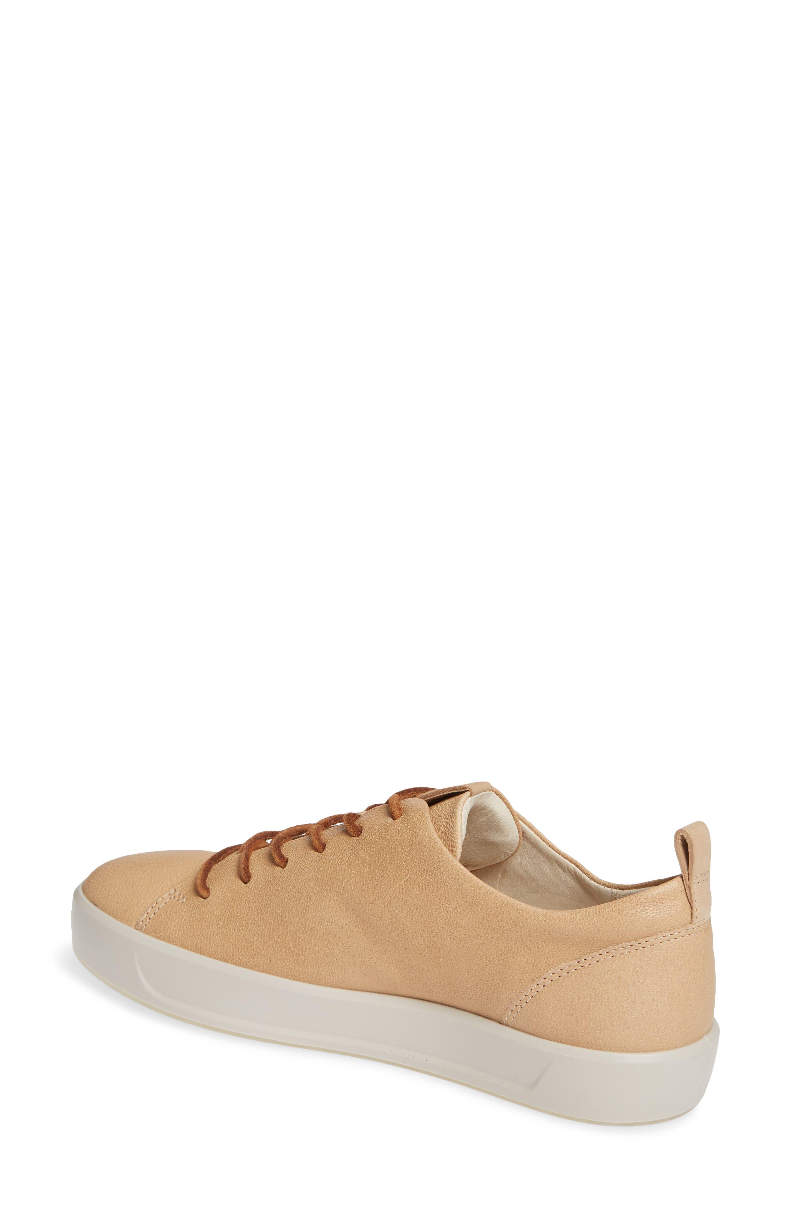 ECCO, Soft 8 Sneaker, Alternate thumbnail 2, color, POWDER LEATHER