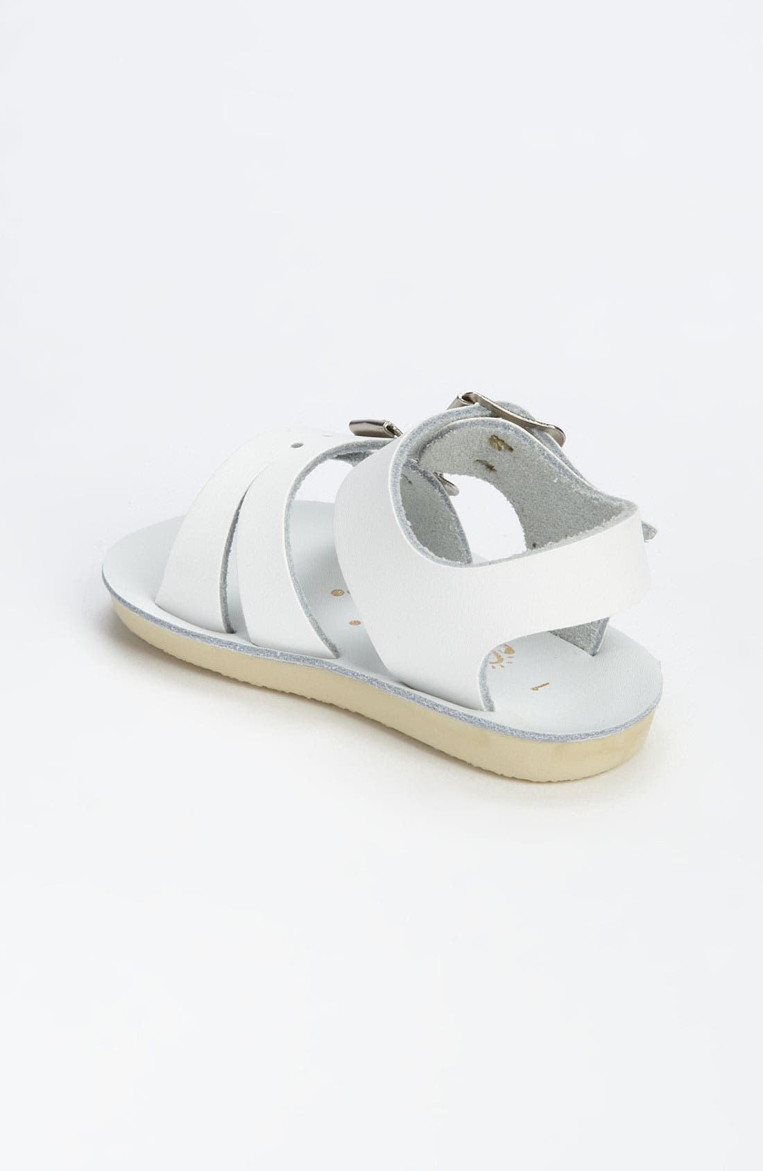 SALT WATER SANDALS BY HOY, Sea Wee Water Friendly Sandal, Alternate thumbnail 3, color, WHITE
