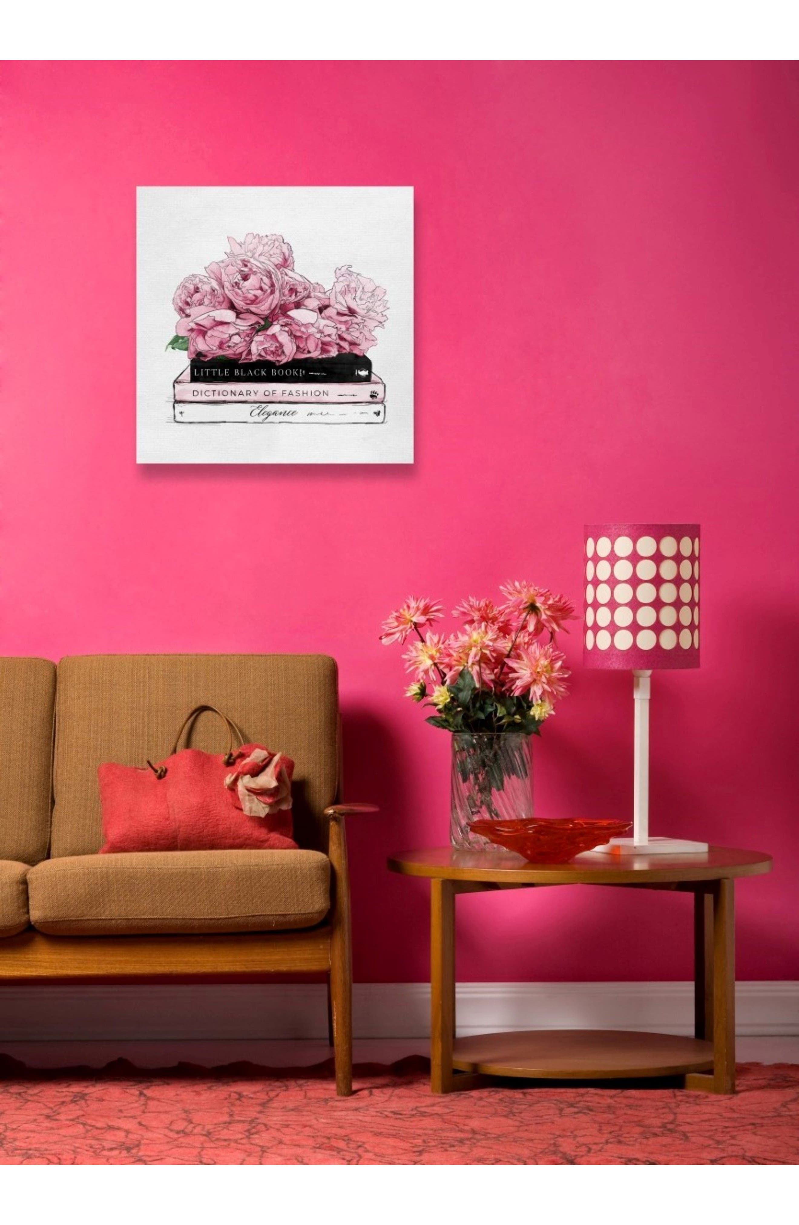 OLIVER GAL, Roses & Elegance Canvas Wall Art, Alternate thumbnail 2, color, WHITE