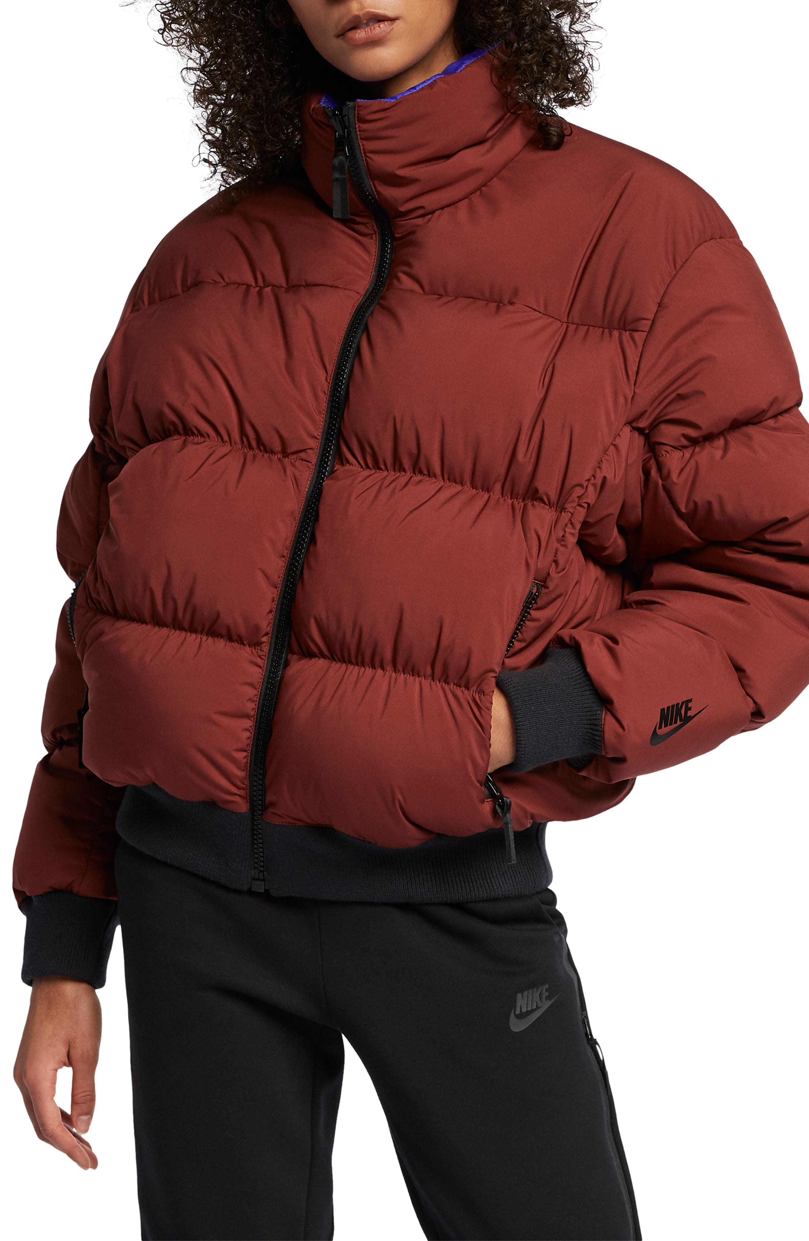 Nike Nrg Reversible Down Fill Puffer Jacket, Beige