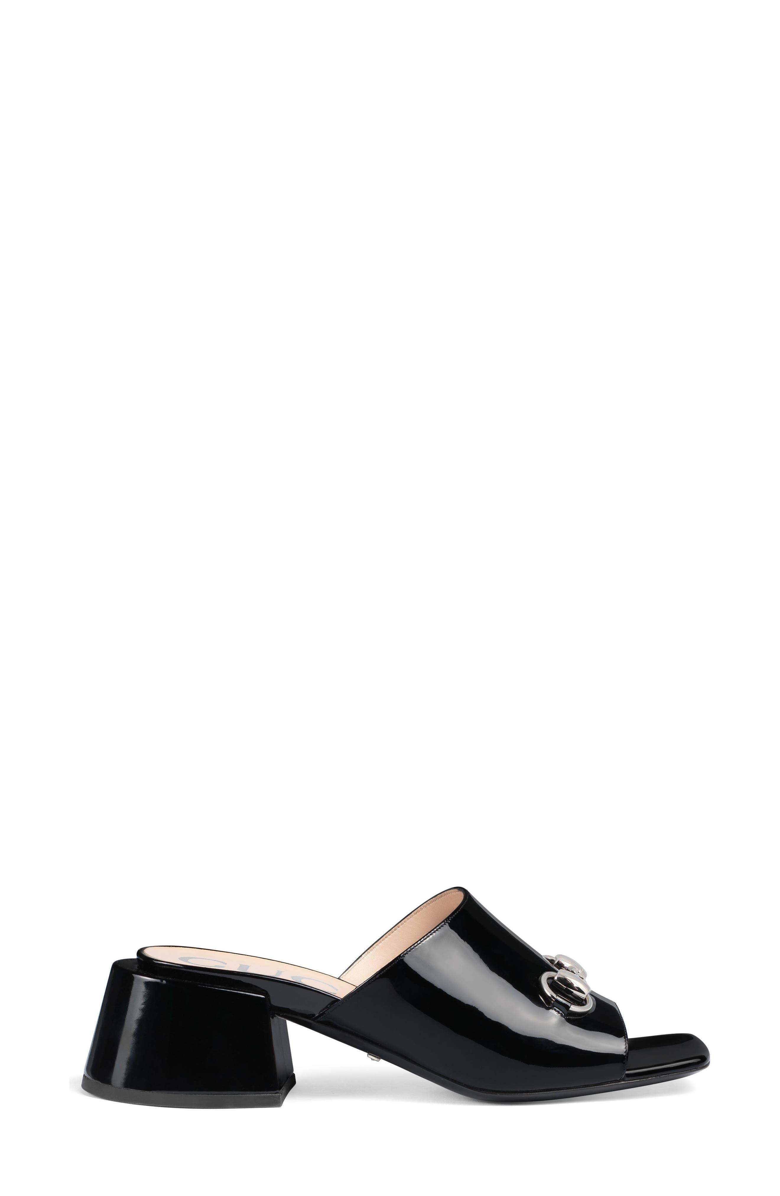 GUCCI, Lexi Slide Sandal, Alternate thumbnail 2, color, BLACK