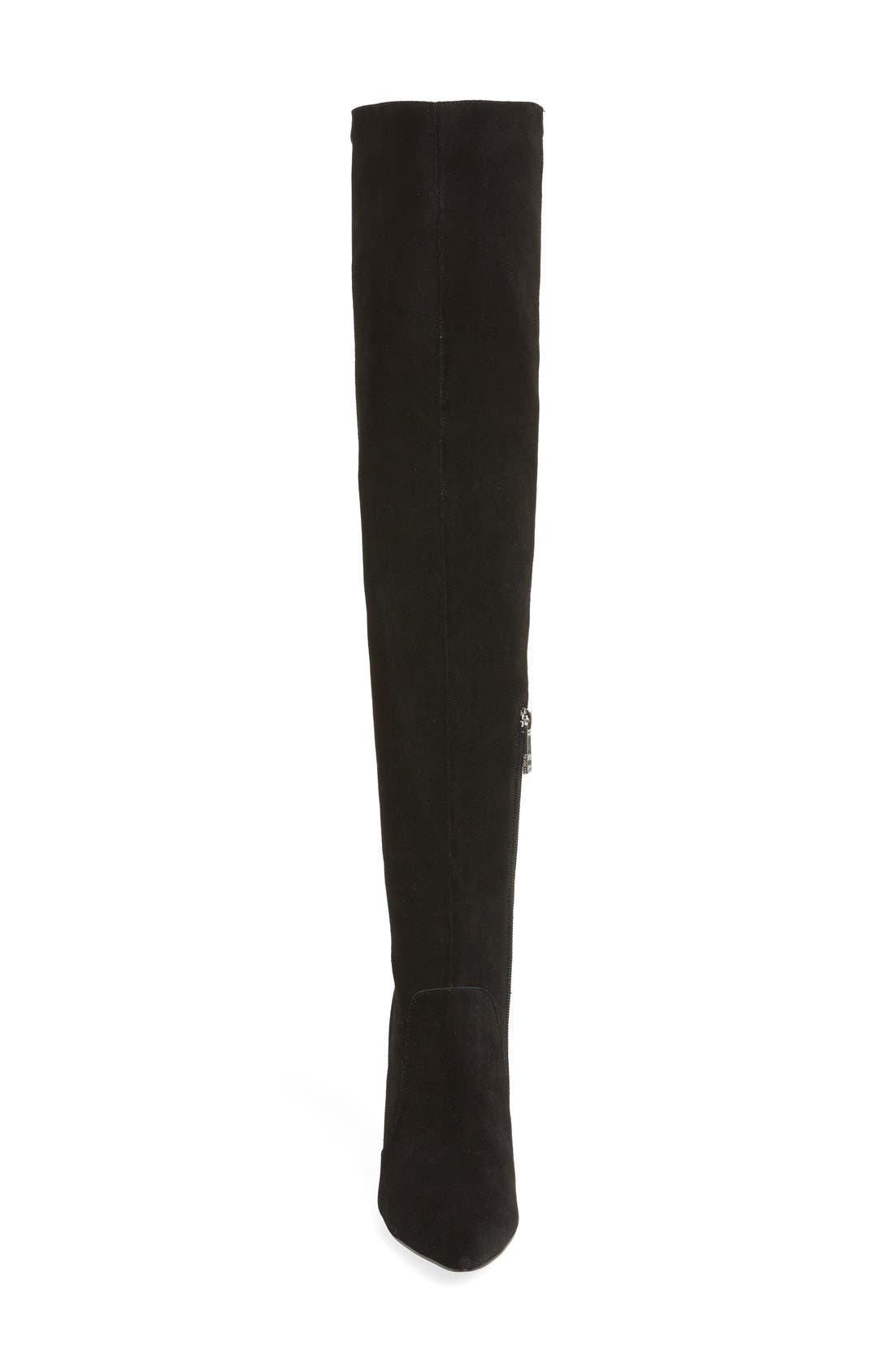 CHARLES BY CHARLES DAVID, 'Paso' Over The Knee Boot, Alternate thumbnail 3, color, 002