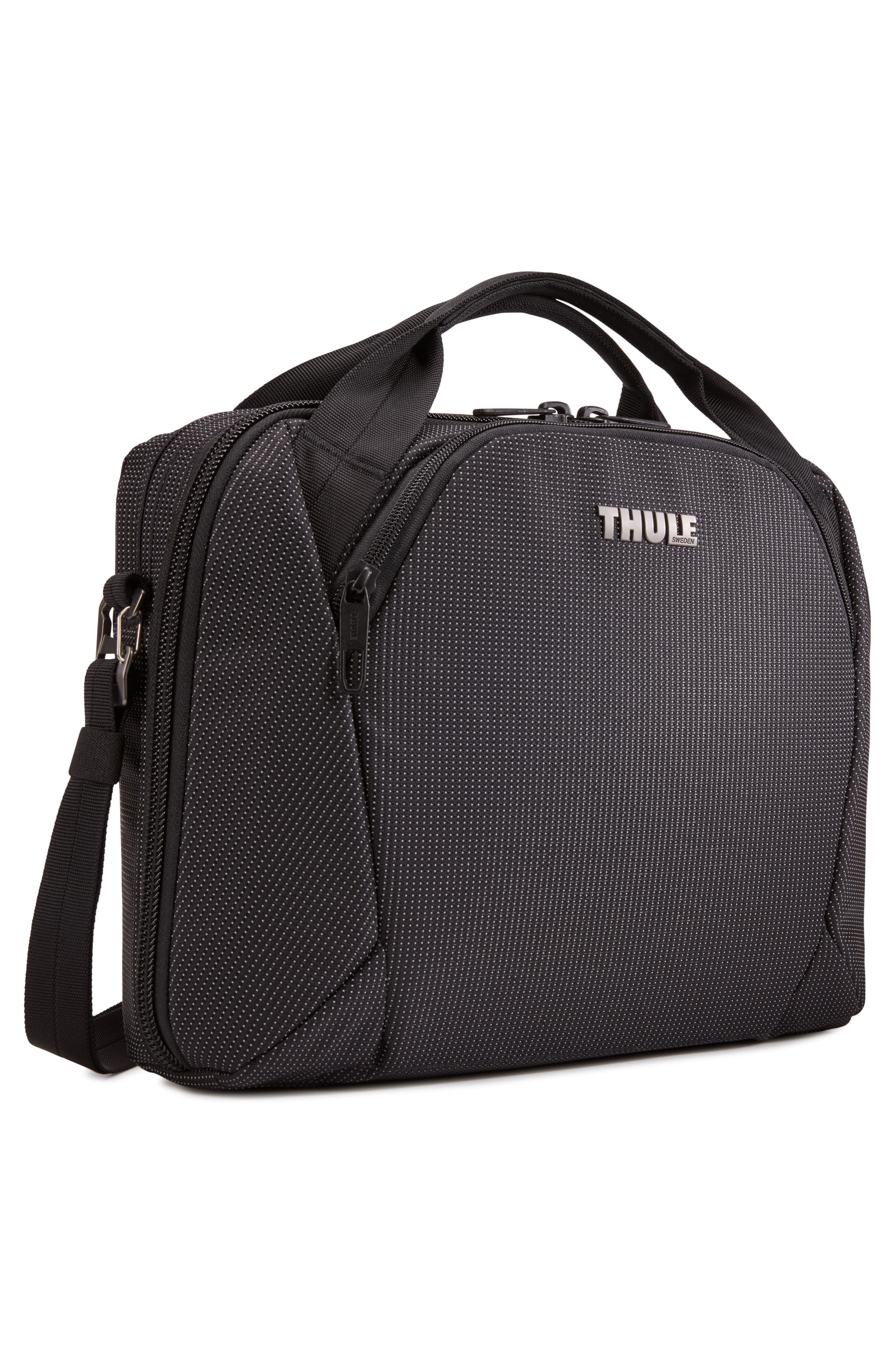 THULE, Crossover 2 Convertible Laptop Backpack, Alternate thumbnail 3, color, BLACK