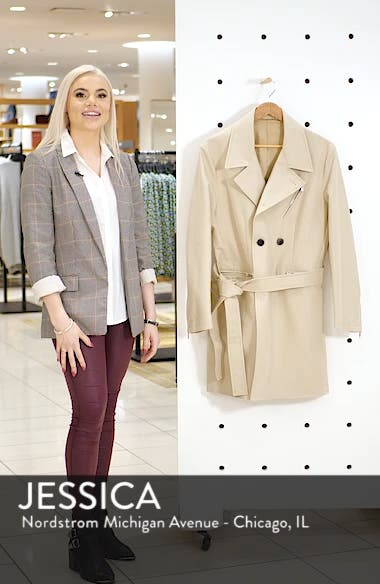Moto Cotton Trench Coat, sales video thumbnail
