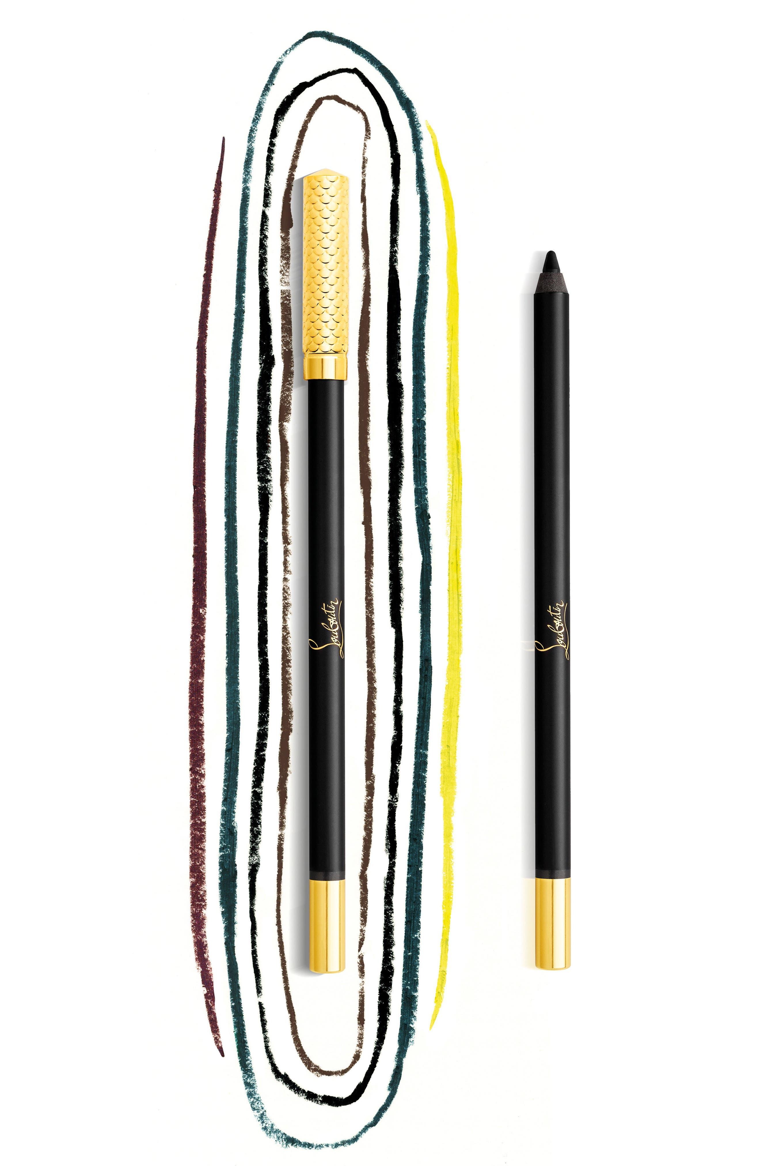 CHRISTIAN LOUBOUTIN, Oeil Velours Velvet Eye Definer, Alternate thumbnail 3, color, KHOL