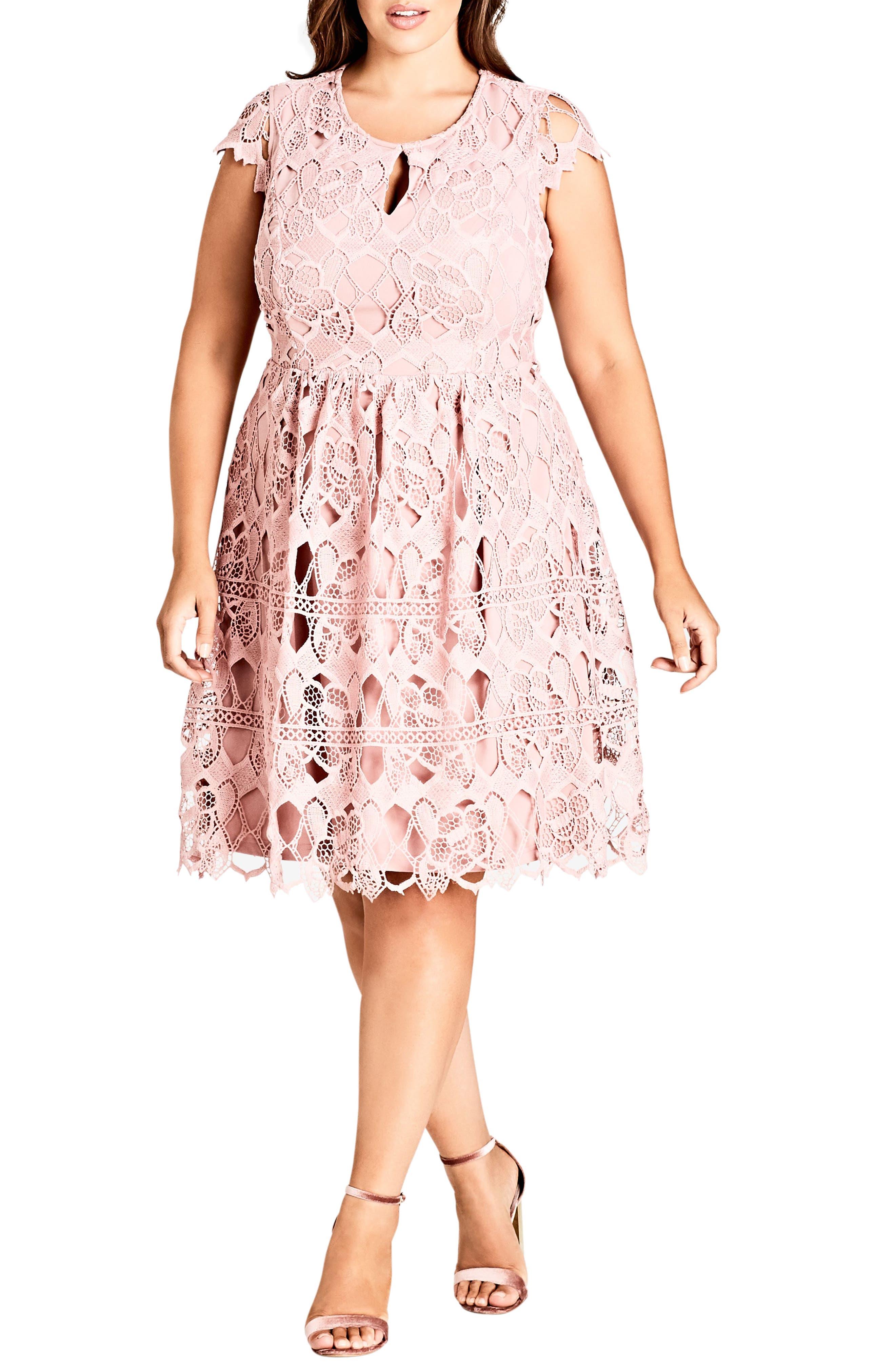 Plus Size City Chic Akiko Lace Dress