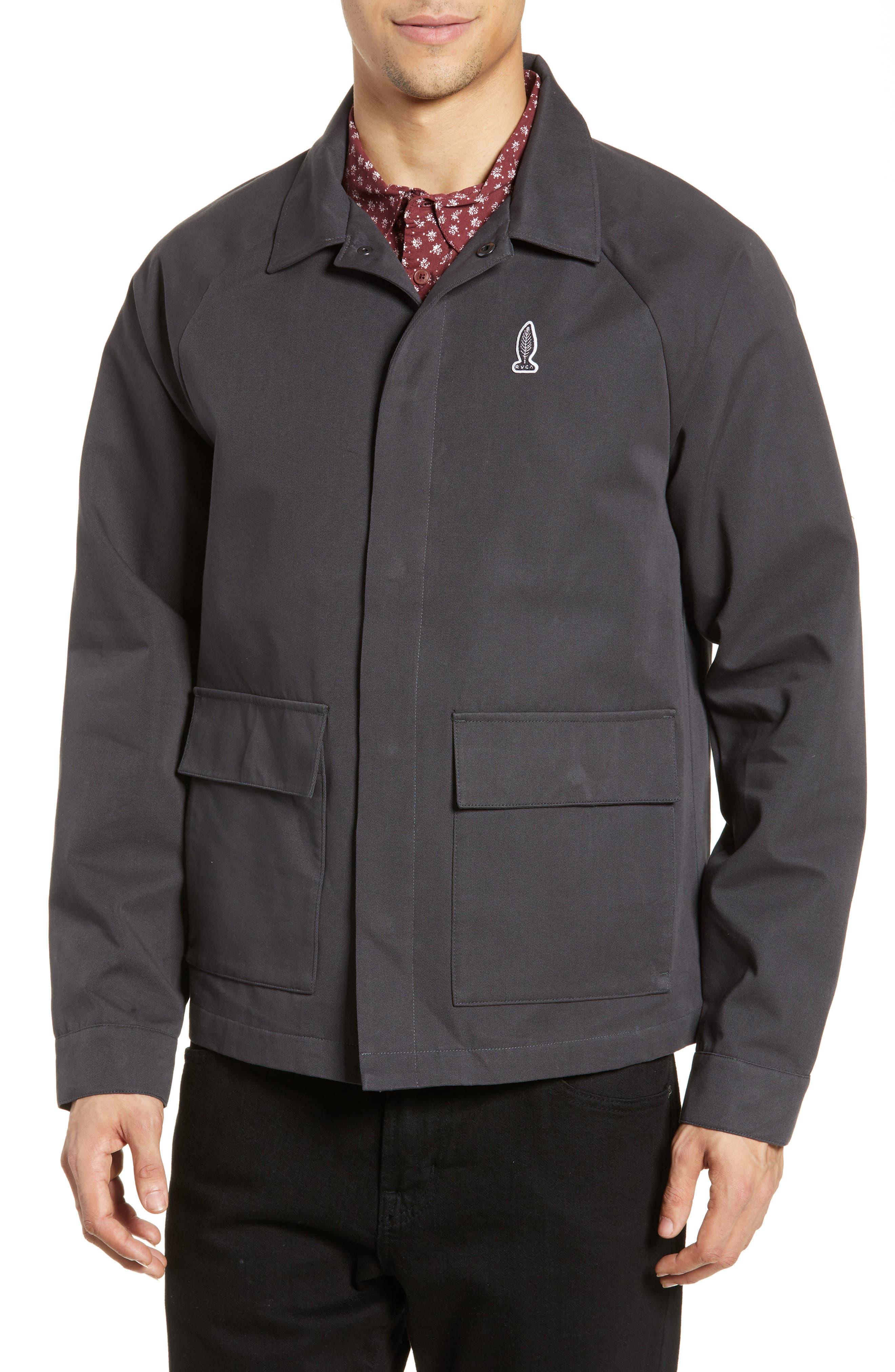 RVCA, Gerrard Jacket, Alternate thumbnail 5, color, PIRATE BLACK