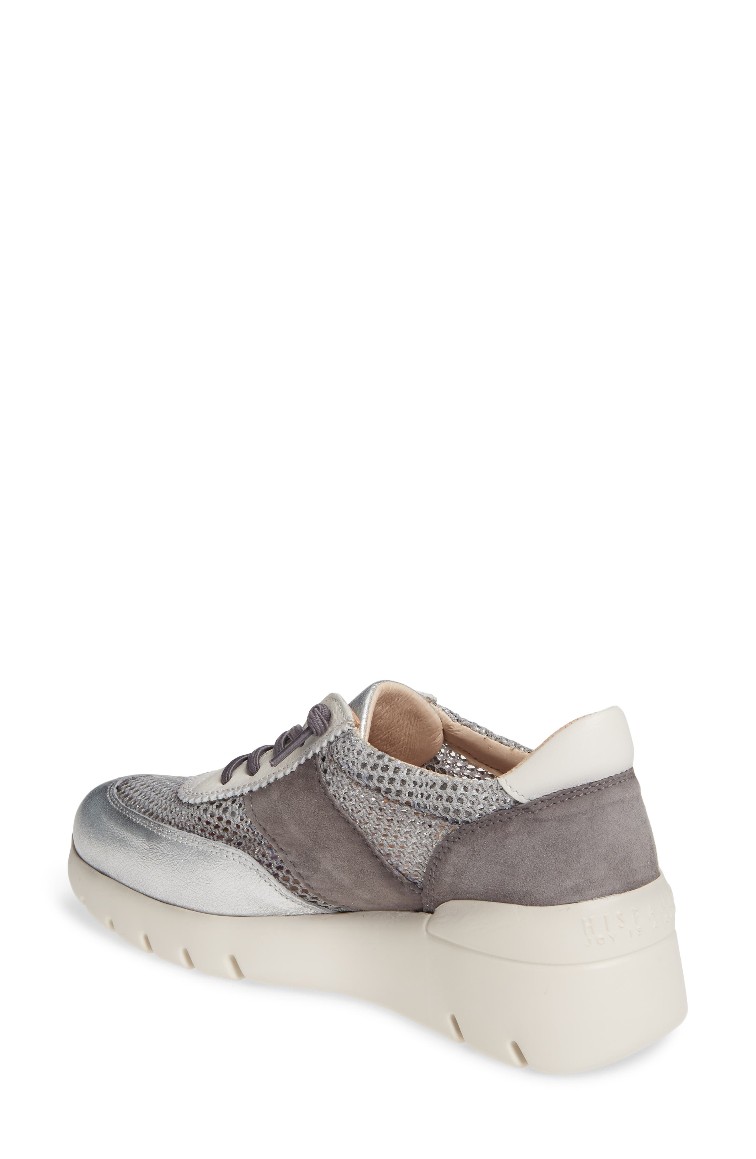 HISPANITAS, Ruth Sneaker, Alternate thumbnail 2, color, SILVER/ GREY SUEDE