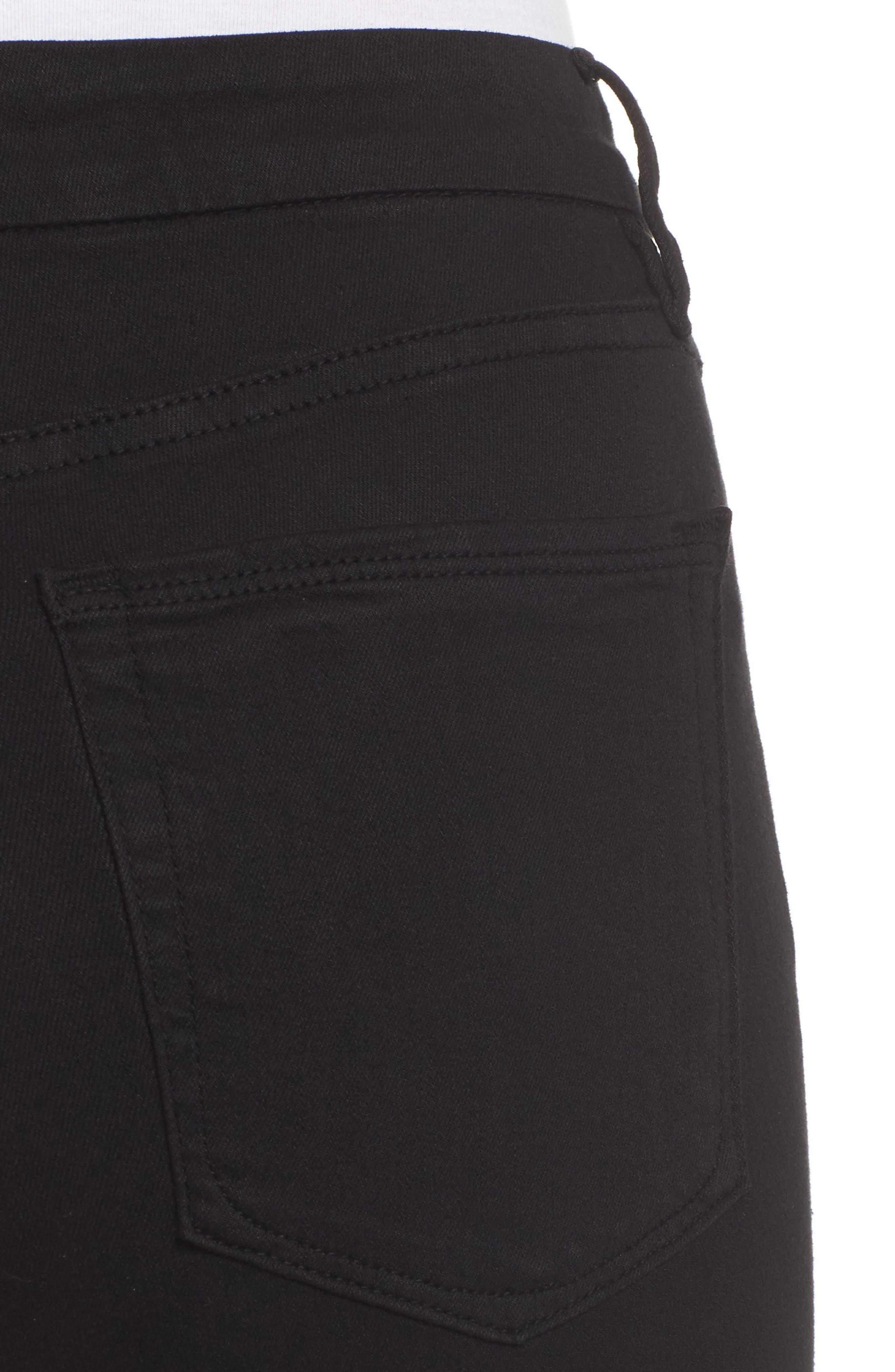 GOOD AMERICAN, Good Legs High Rise Crop Skinny Jeans, Alternate thumbnail 5, color, BLACK 001