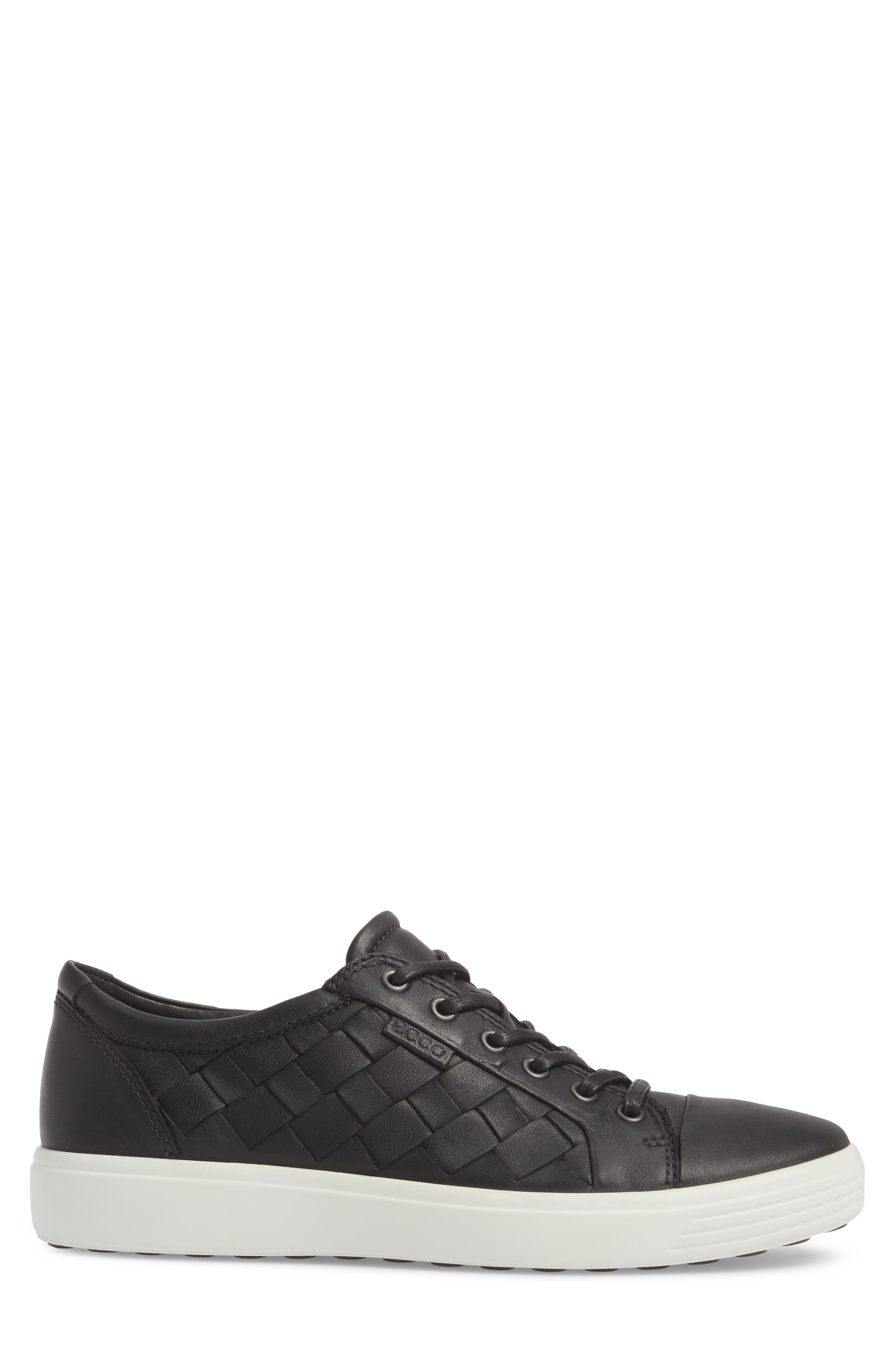 ECCO, Soft 7 Woven Sneaker, Alternate thumbnail 3, color, 009