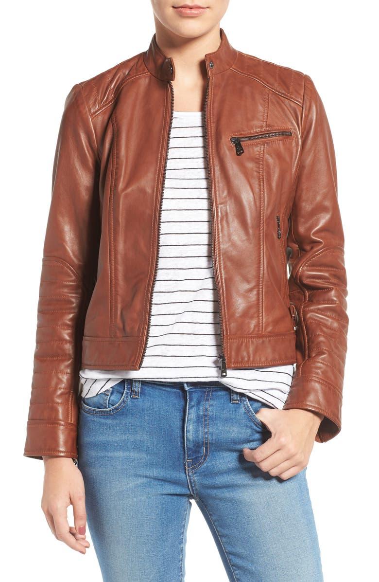 c210abd6e89 Bernardo Quilted Leather Moto Jacket (Regular   Petite)