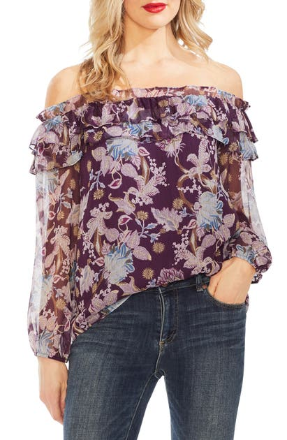Vince Camuto Tops POETIC BLOOMS OFF THE SHOULDER TOP