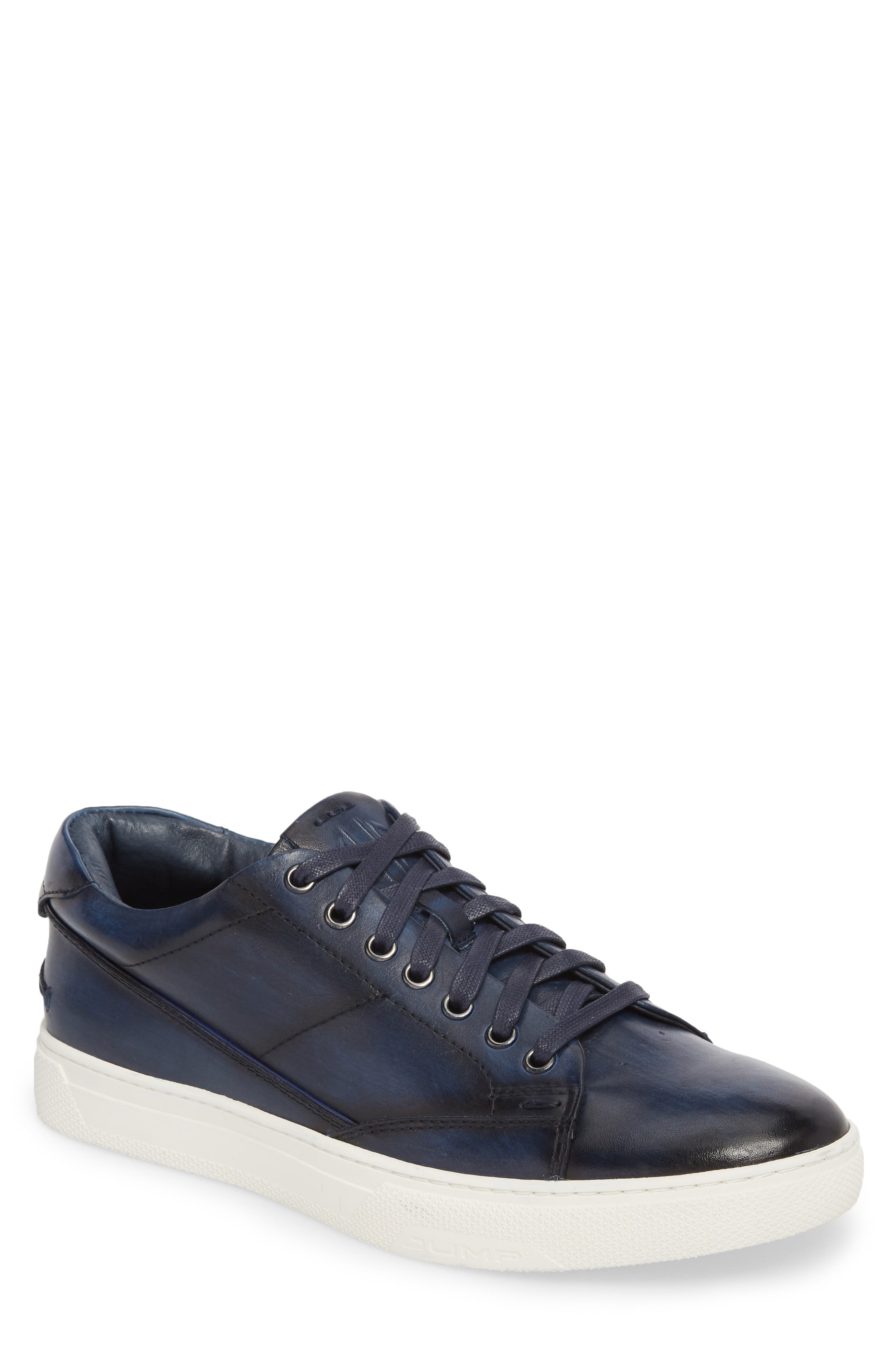 JUMP, Sweeney Low Top Sneaker, Main thumbnail 1, color, NAVY LEATHER