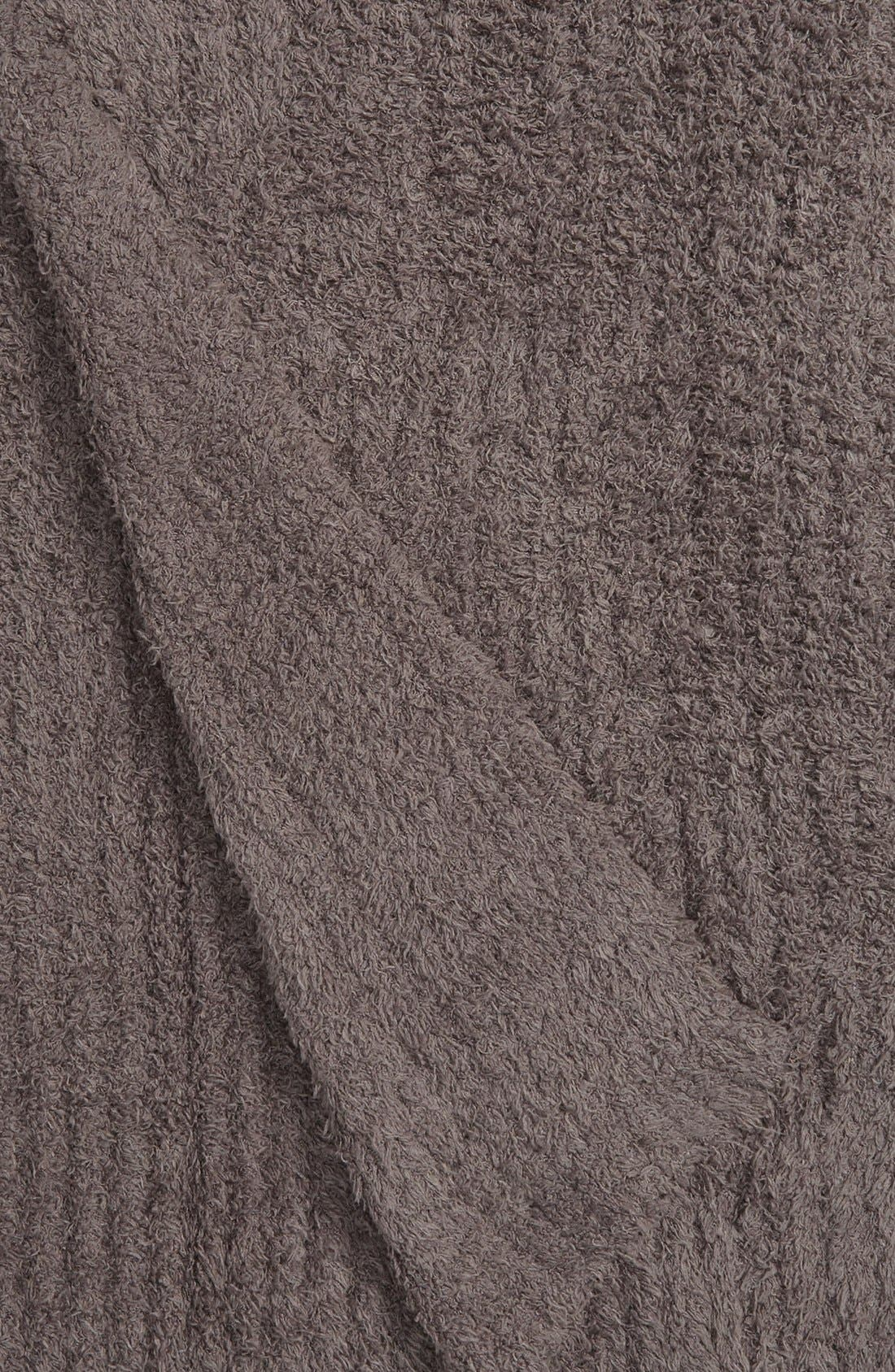 BAREFOOT DREAMS<SUP>®</SUP>, 'CozyChic<sup>®</sup>' Ribbed Throw Blanket, Alternate thumbnail 2, color, CHARCOAL