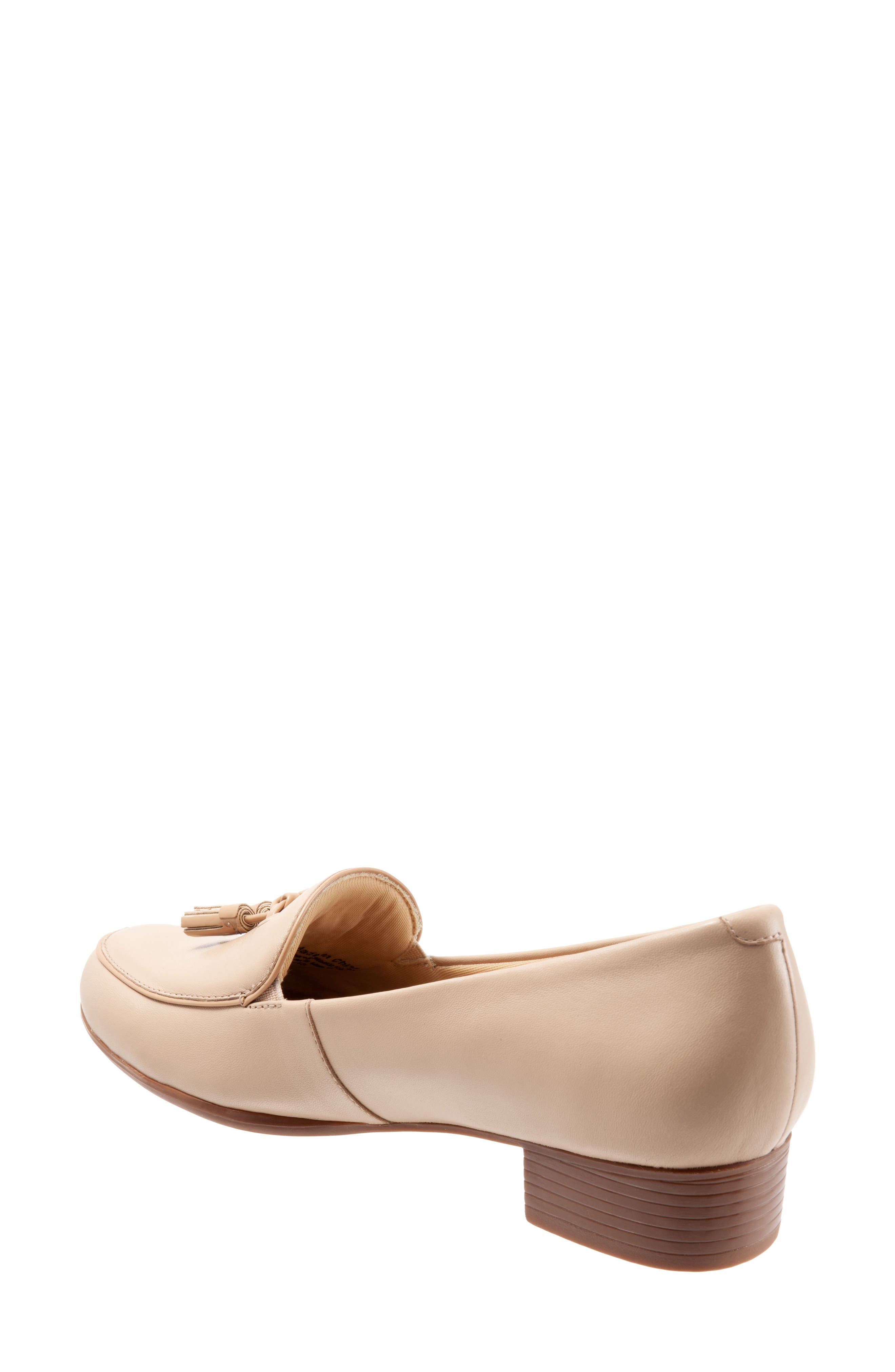 TROTTERS, Mary Tassel Loafer, Alternate thumbnail 2, color, NUDE LEATHER
