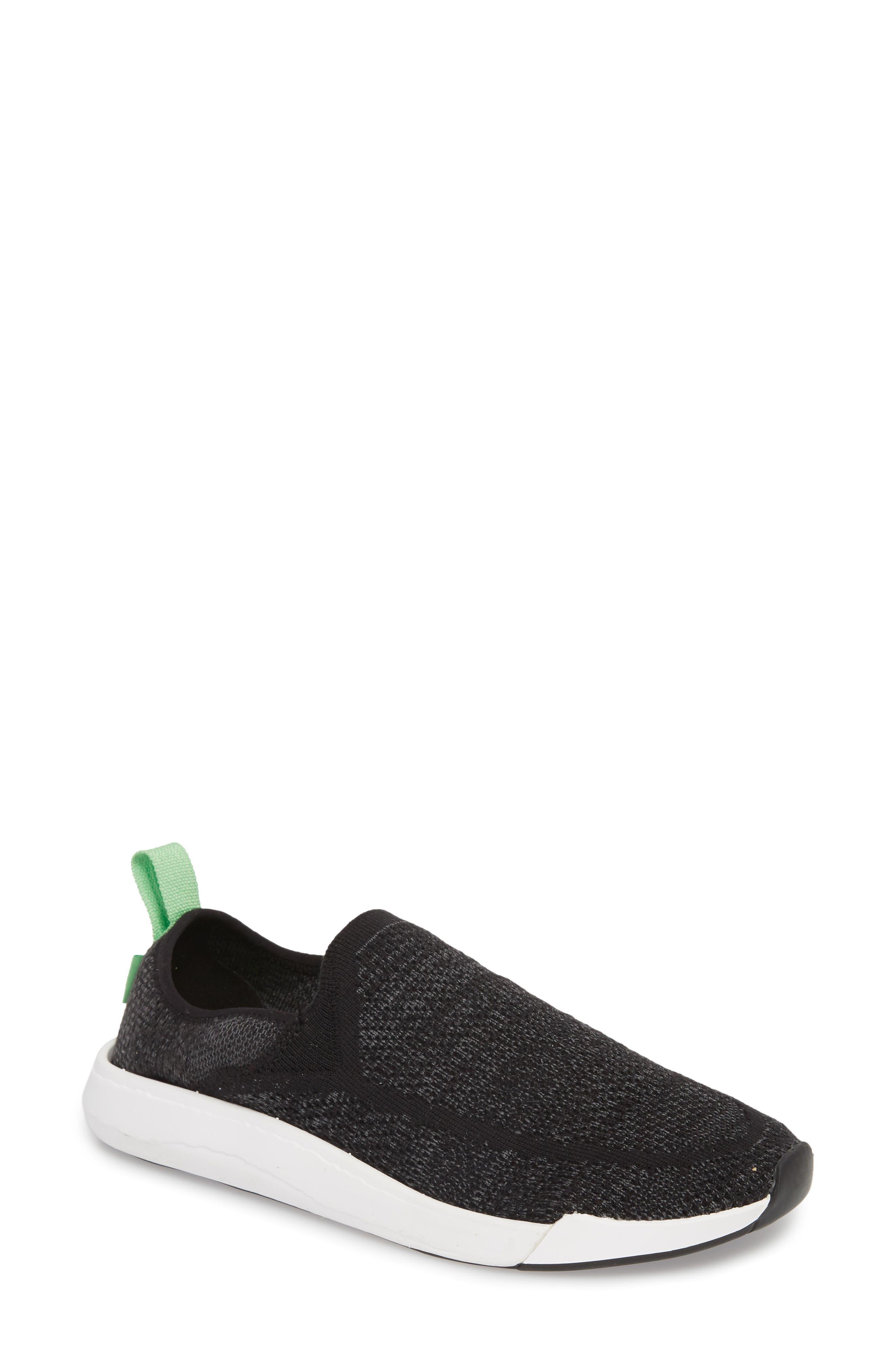 SANUK, Chiba Quest Knit Slip-On Sneaker, Main thumbnail 1, color, BLACK