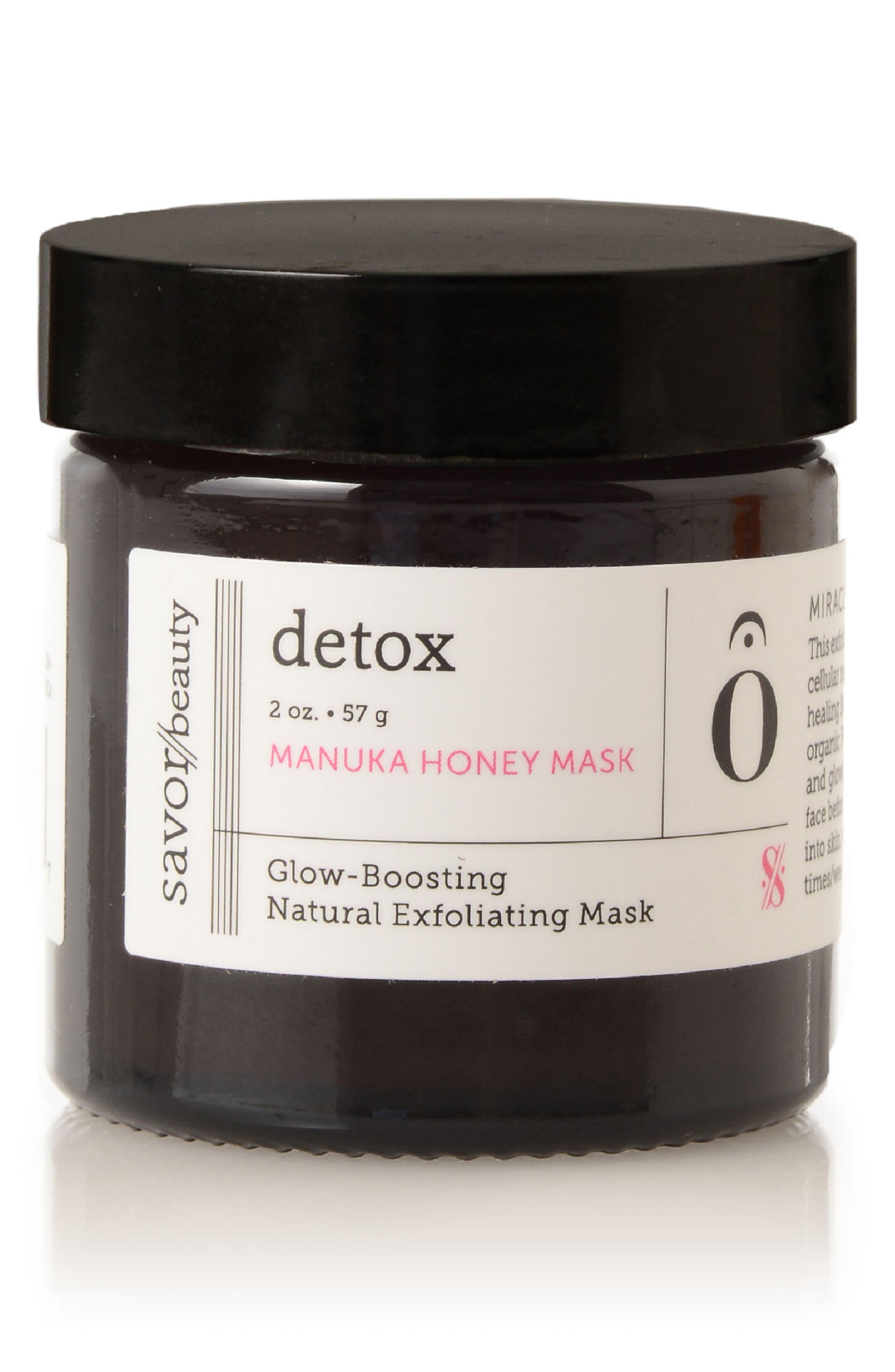 SAVOR BEAUTY Detox Manuka Honey Mask, Main, color, NO COLOR
