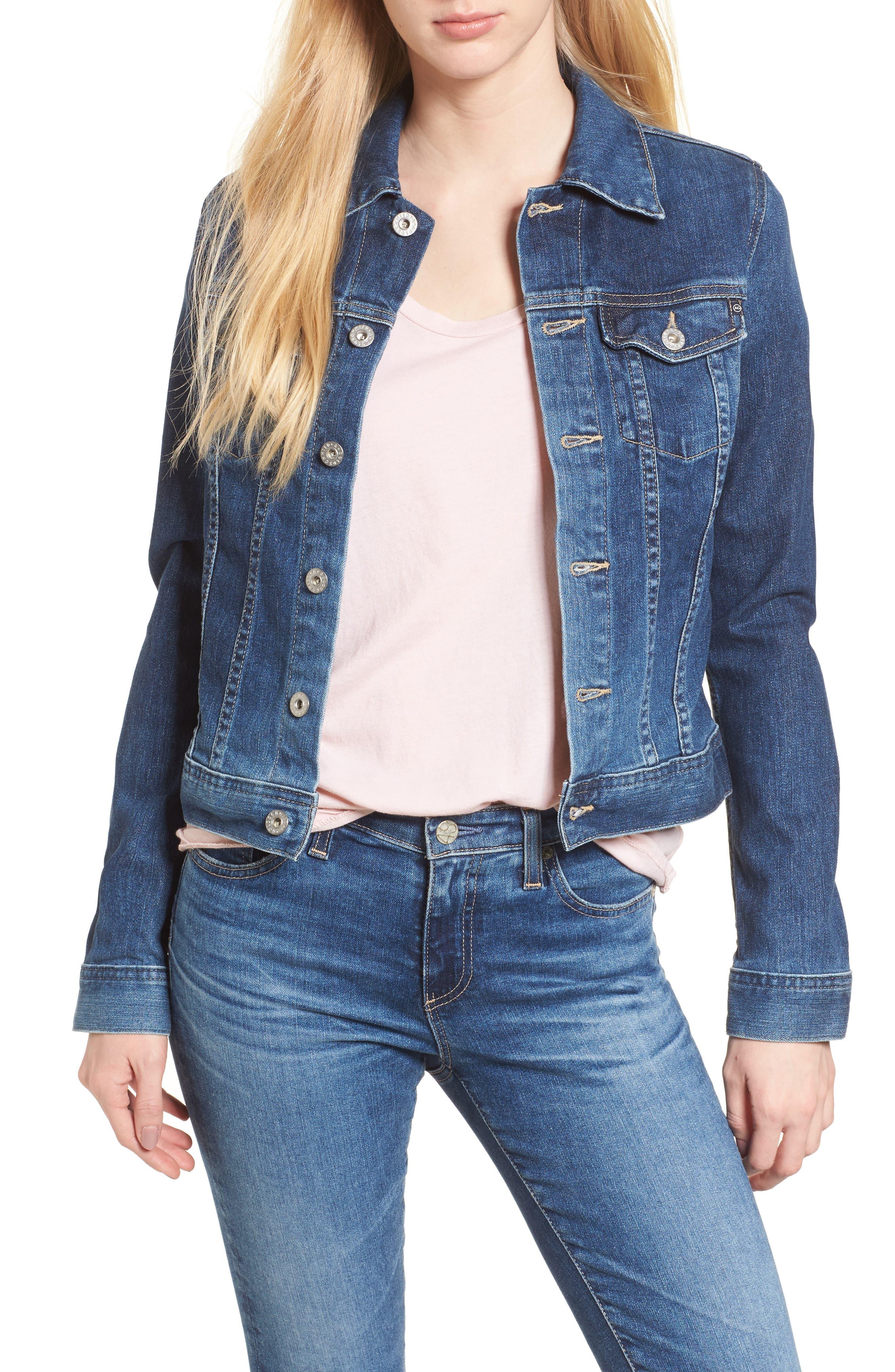 AG Robyn Denim Jacket, Main, color, 408