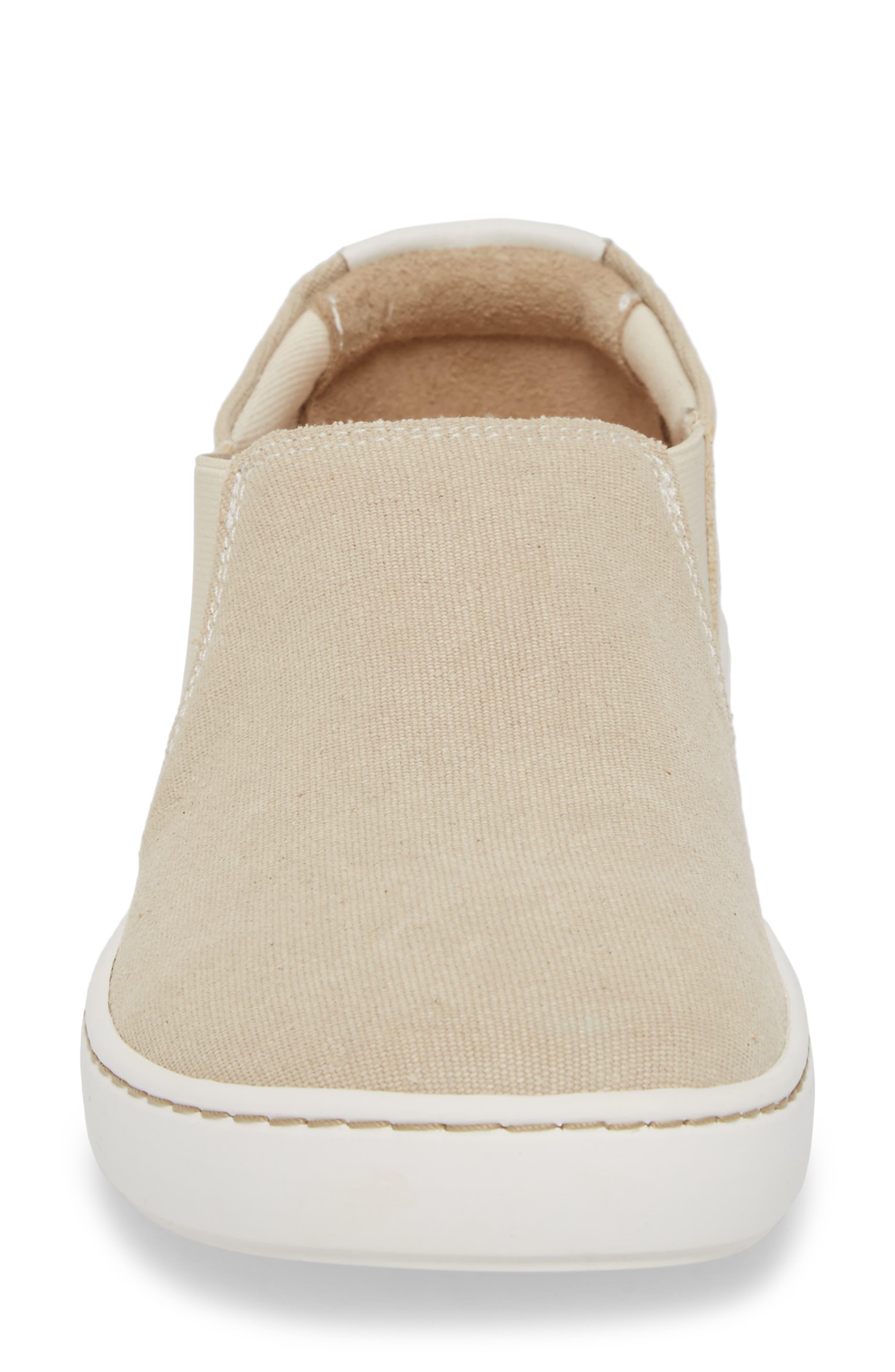 BIRKENSTOCK, Barrie Slip-On Sneaker, Alternate thumbnail 4, color, SAND CANVAS