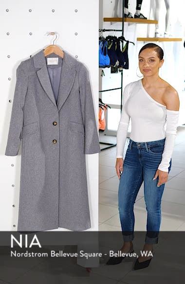Modern Loro Piana Wool Reefer Coat, sales video thumbnail