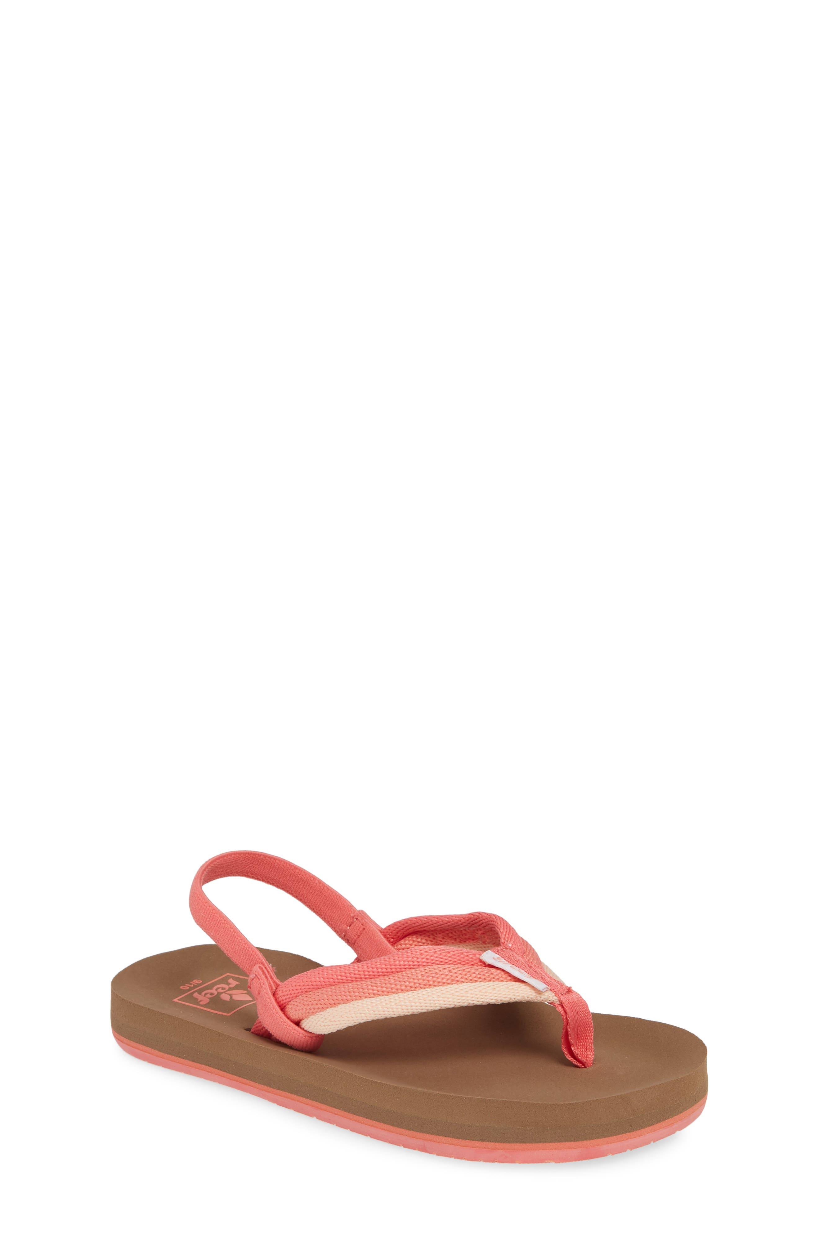 REEF, Little Ahi Beach Thong Sandal, Main thumbnail 1, color, RASPBERRY