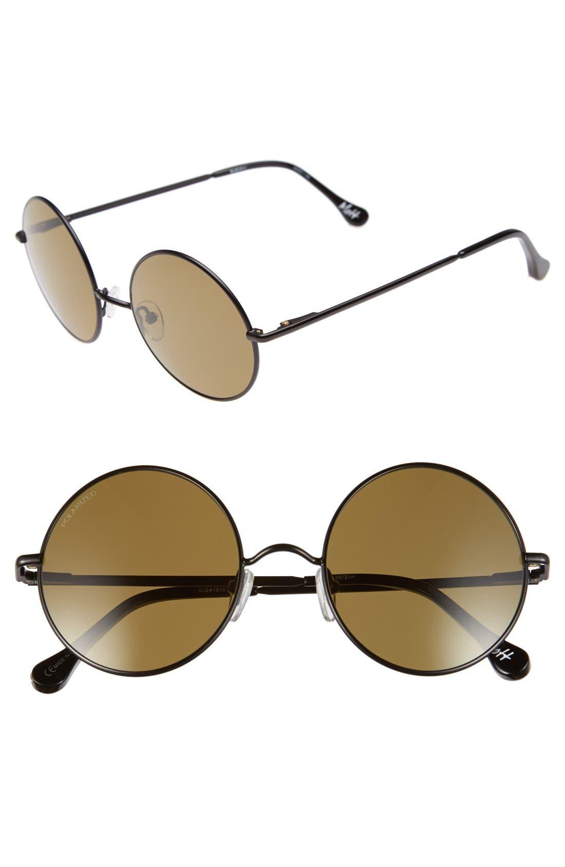 ELIZABETH AND JAMES, 'Mott' 52mm Round Sunglasses, Main thumbnail 1, color, 001