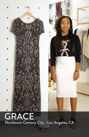 Embellished Mesh Evening Dress, sales video thumbnail