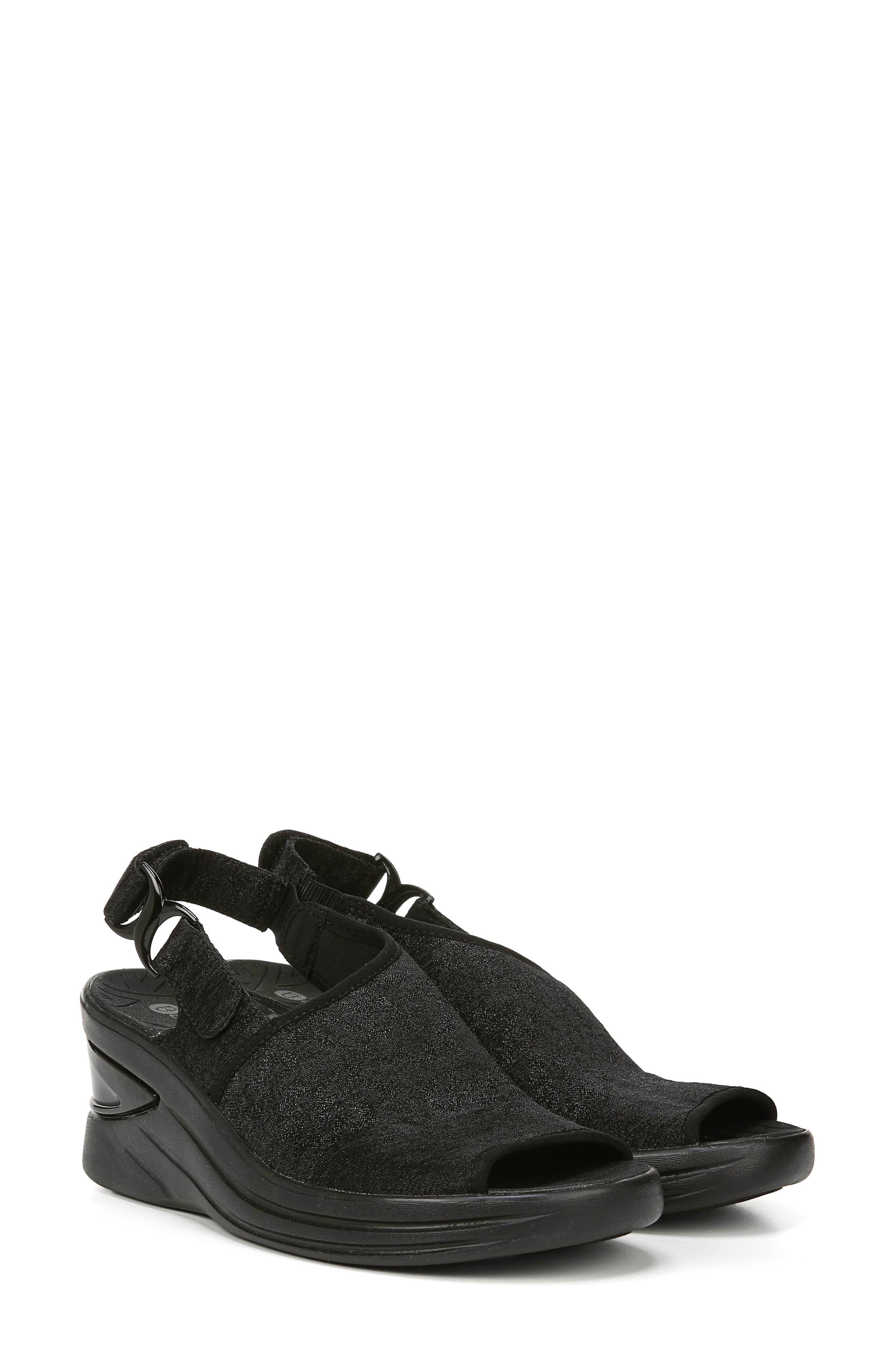 BZEES, Vivia Slingback Wedge Sandal, Alternate thumbnail 8, color, BLACK FABRIC