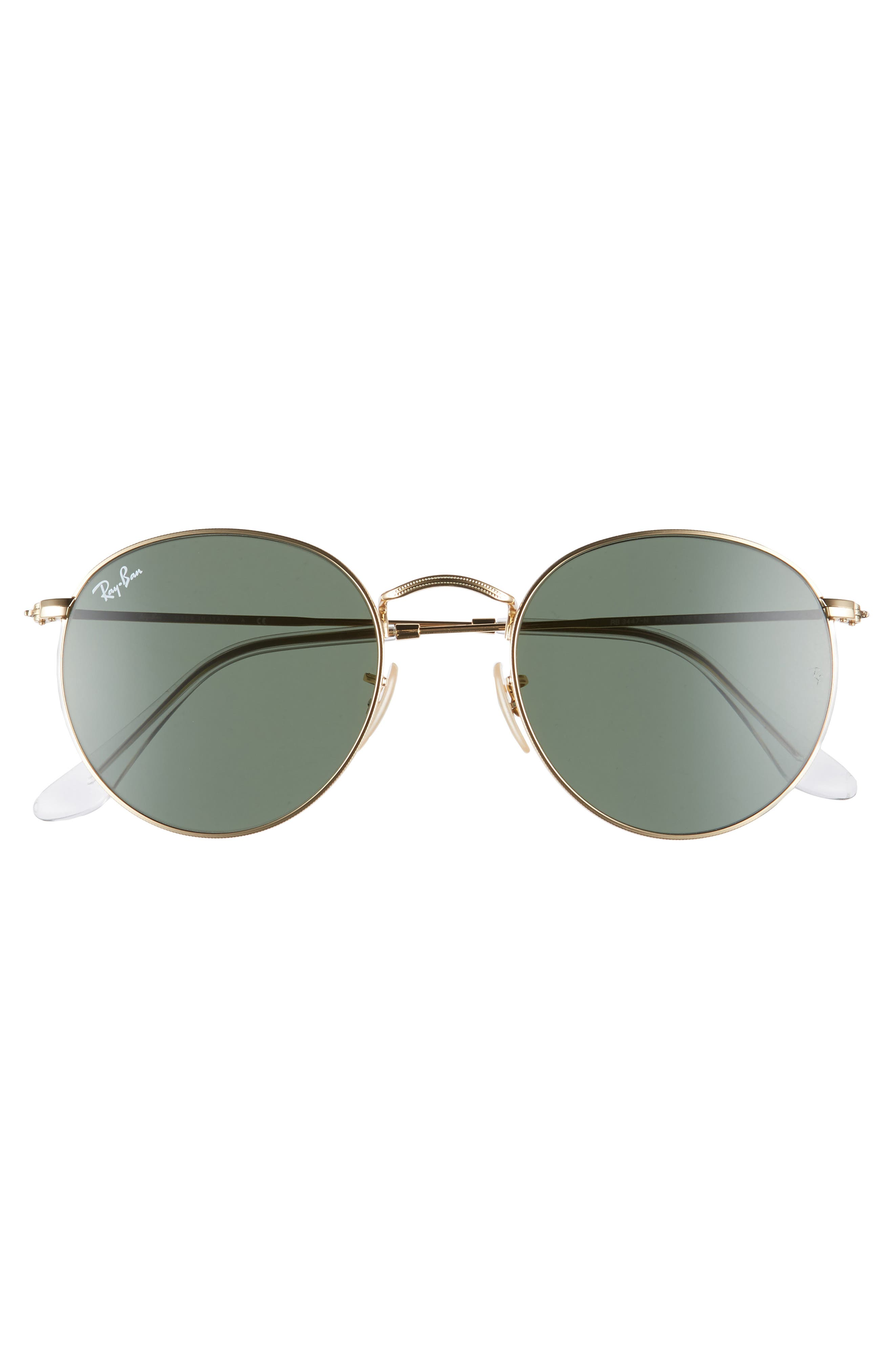 RAY-BAN, 53mm Round Sunglasses, Alternate thumbnail 3, color, 710