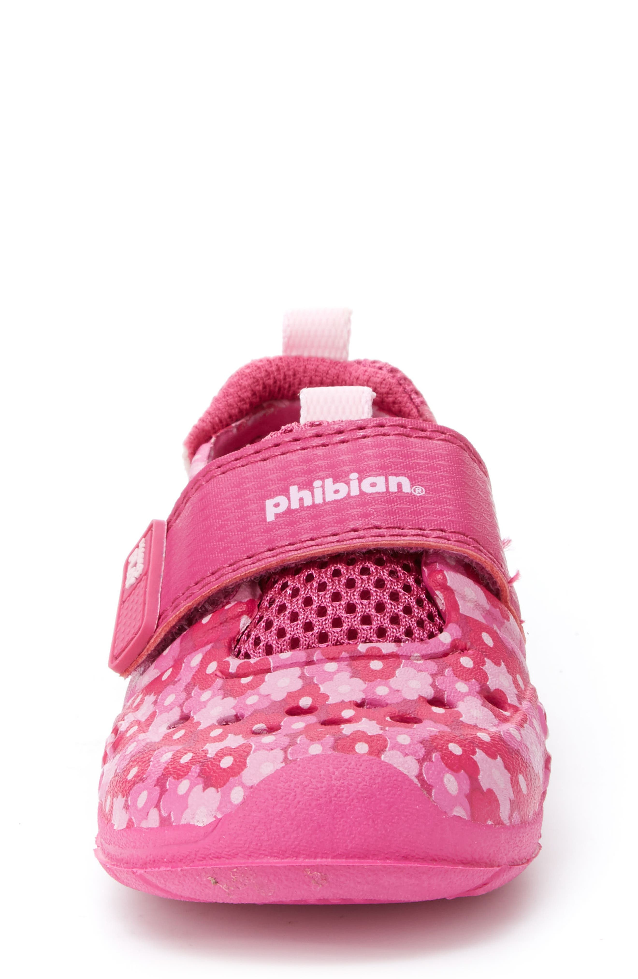 STRIDE RITE, Made2Play<sup>®</sup> Phibian Sneaker, Alternate thumbnail 4, color, PINK FLORAL EVA