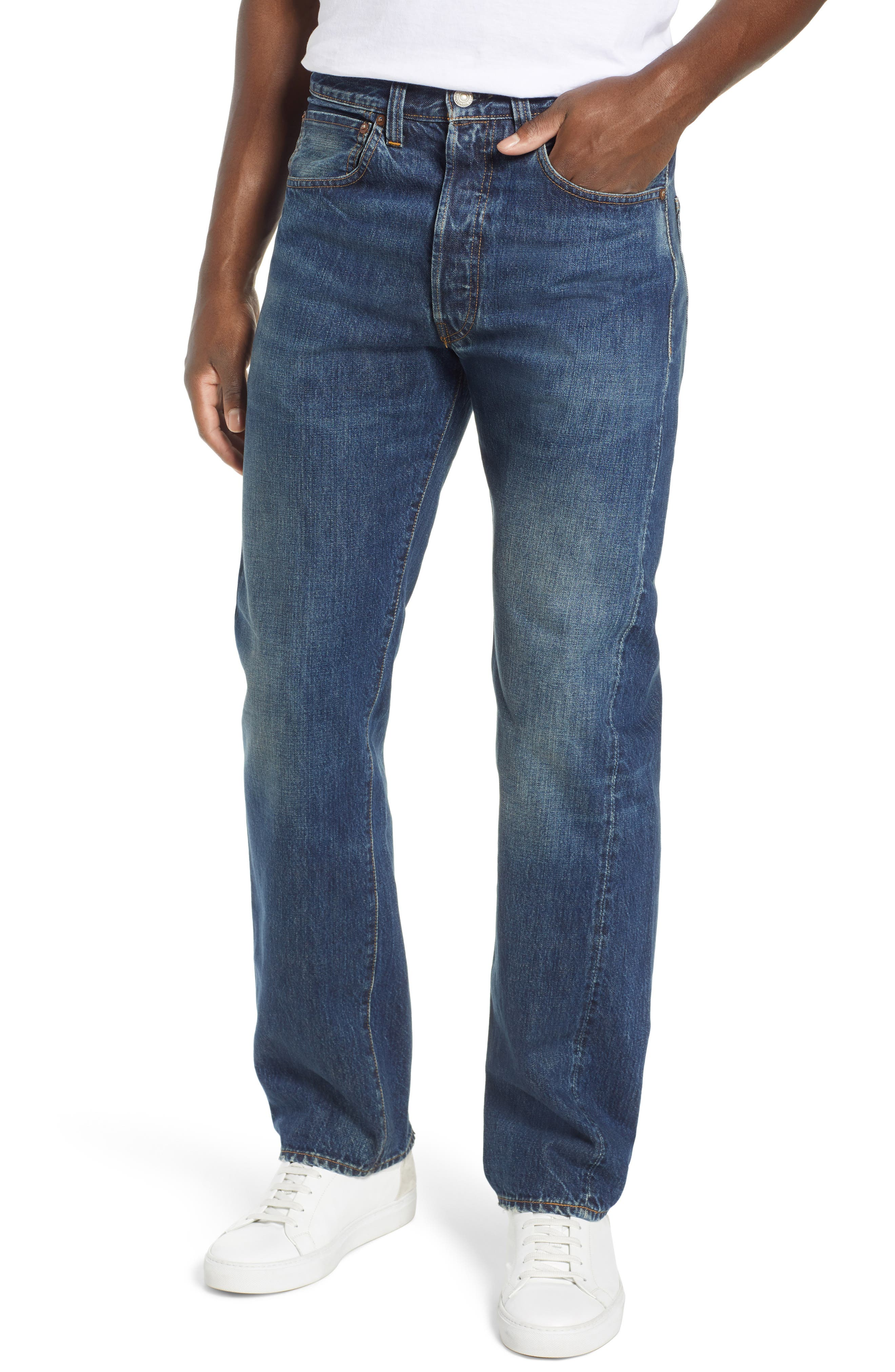 LEVI'S<SUP>®</SUP> VINTAGE CLOTHING, 1947 501<sup>®</sup> Straight Leg Jeans, Main thumbnail 1, color, 402