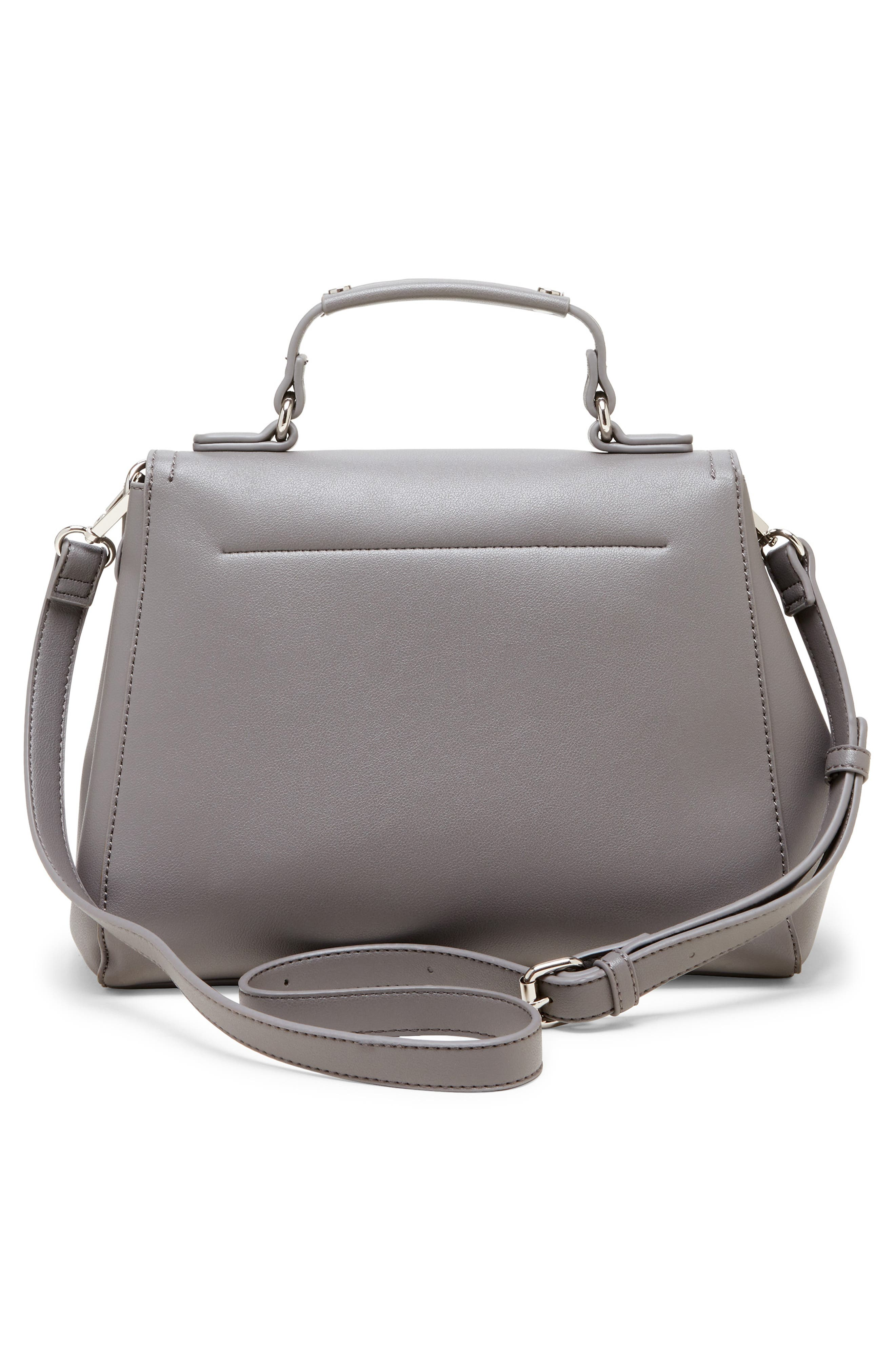 SOLE SOCIETY, Hingi Faux Leather Satchel, Alternate thumbnail 2, color, GREY
