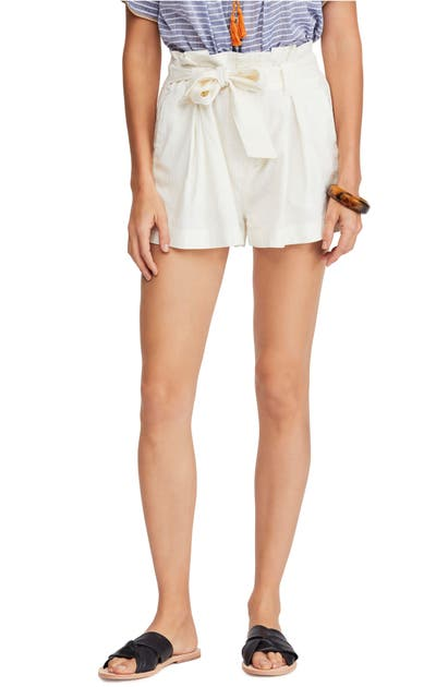 Free People Shorts EVERYWHERE YOU GO PAPERBAG WAIST SHORTS