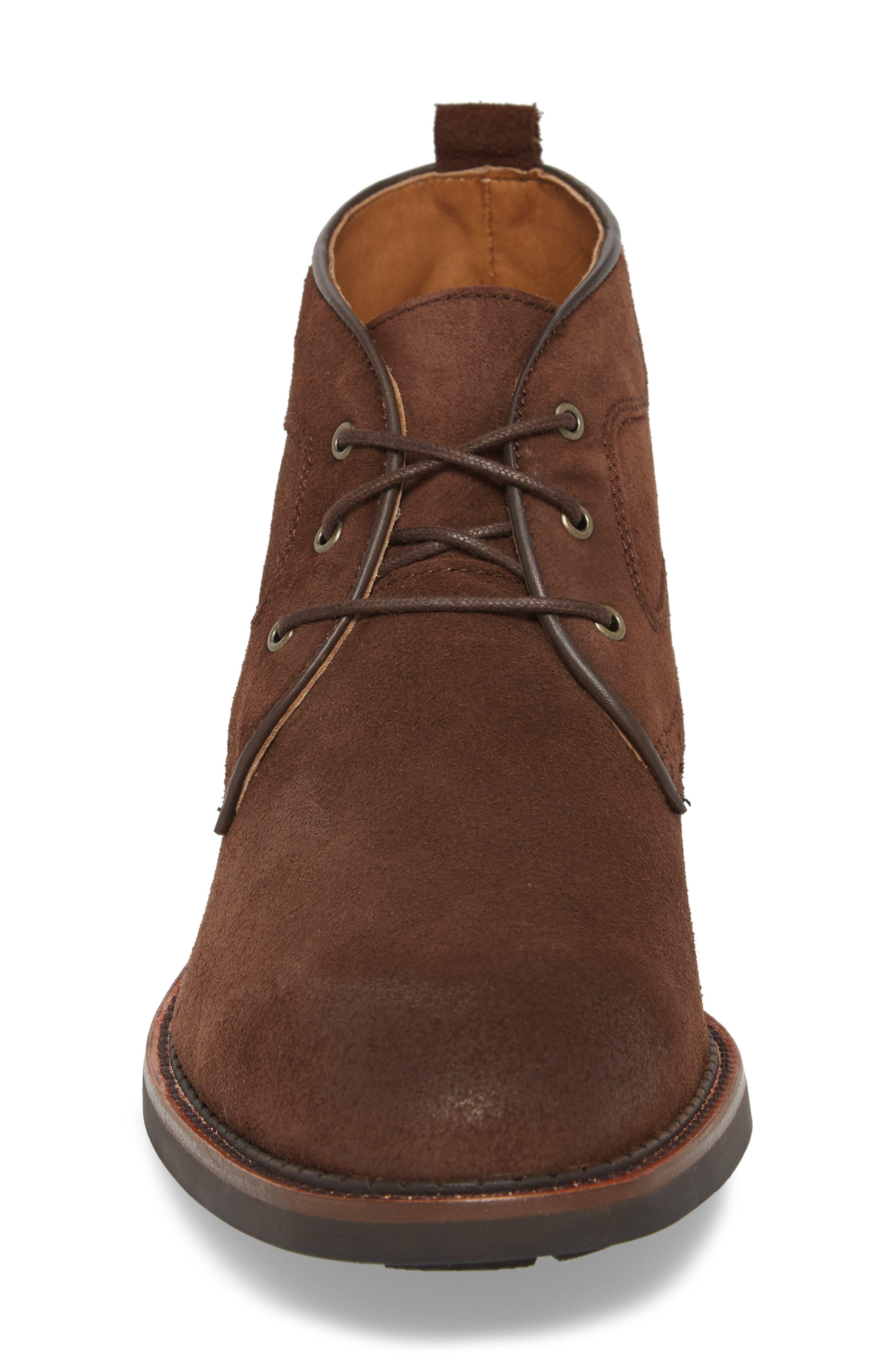 J&M 1850, Fullerton Chukka Boot, Alternate thumbnail 4, color, DARK BROWN