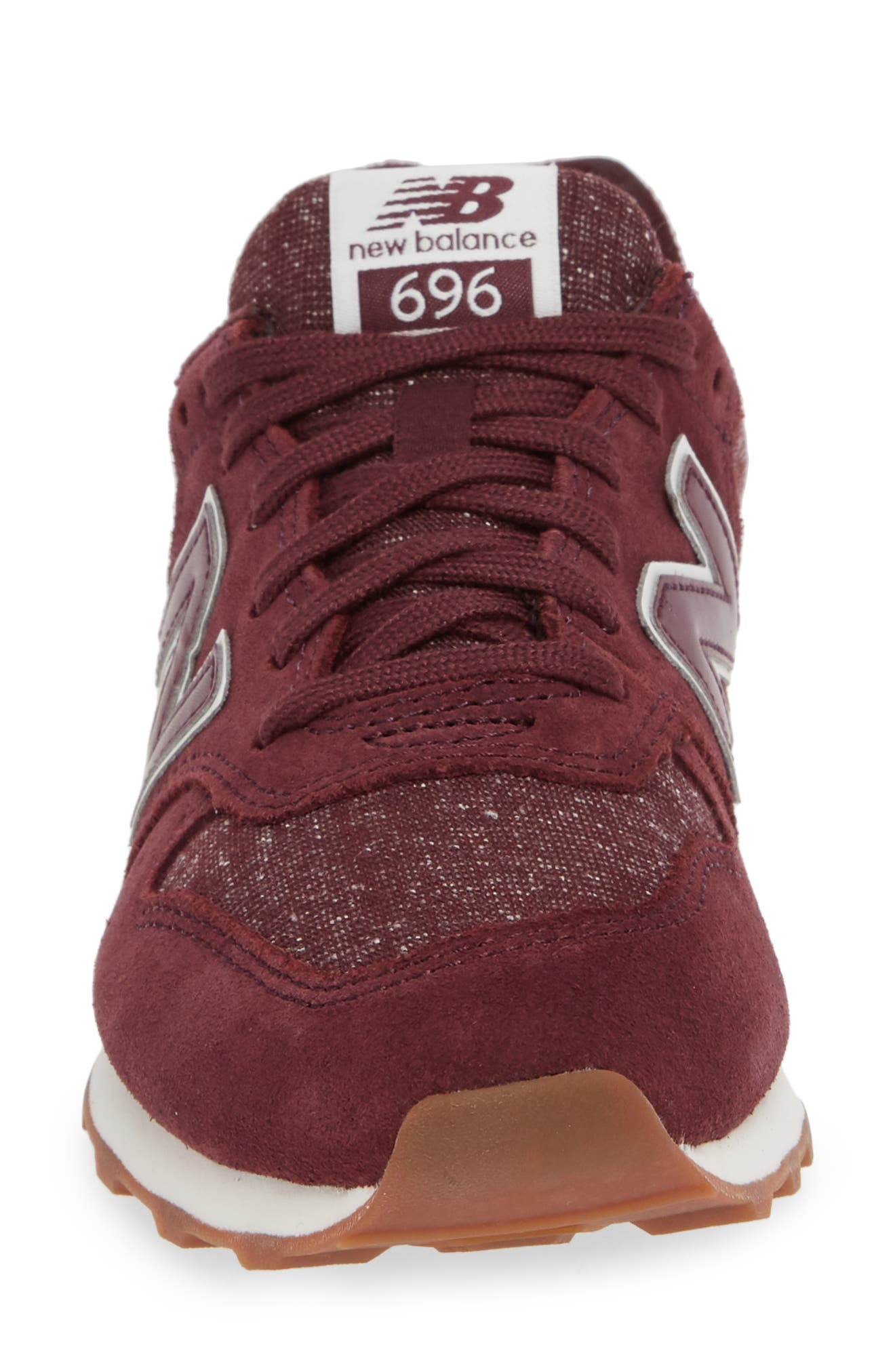 NEW BALANCE, 696 Sneaker, Alternate thumbnail 4, color, BURGUNDY