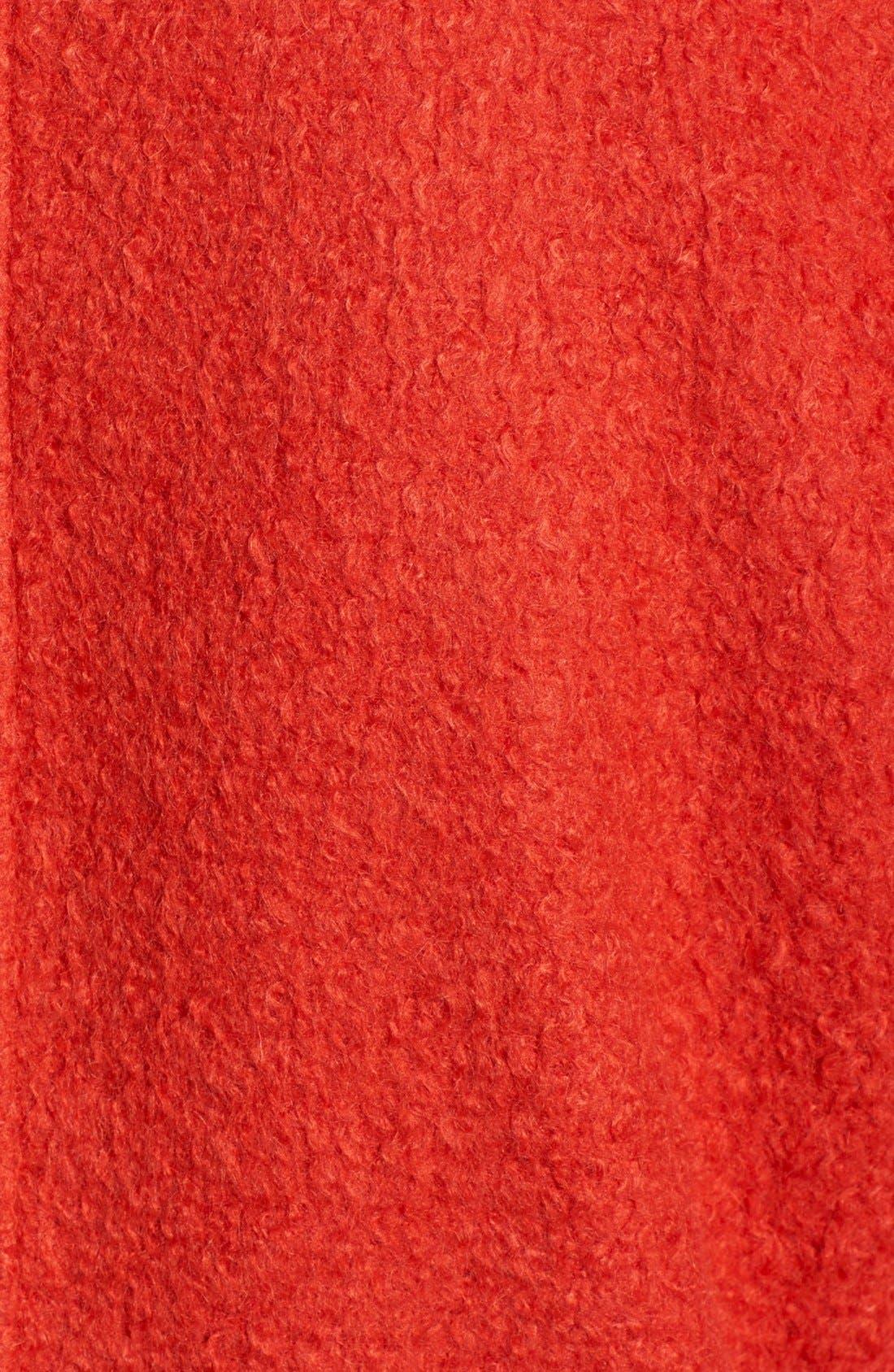 BERNARDO, Textured Long Coat, Alternate thumbnail 5, color, 852