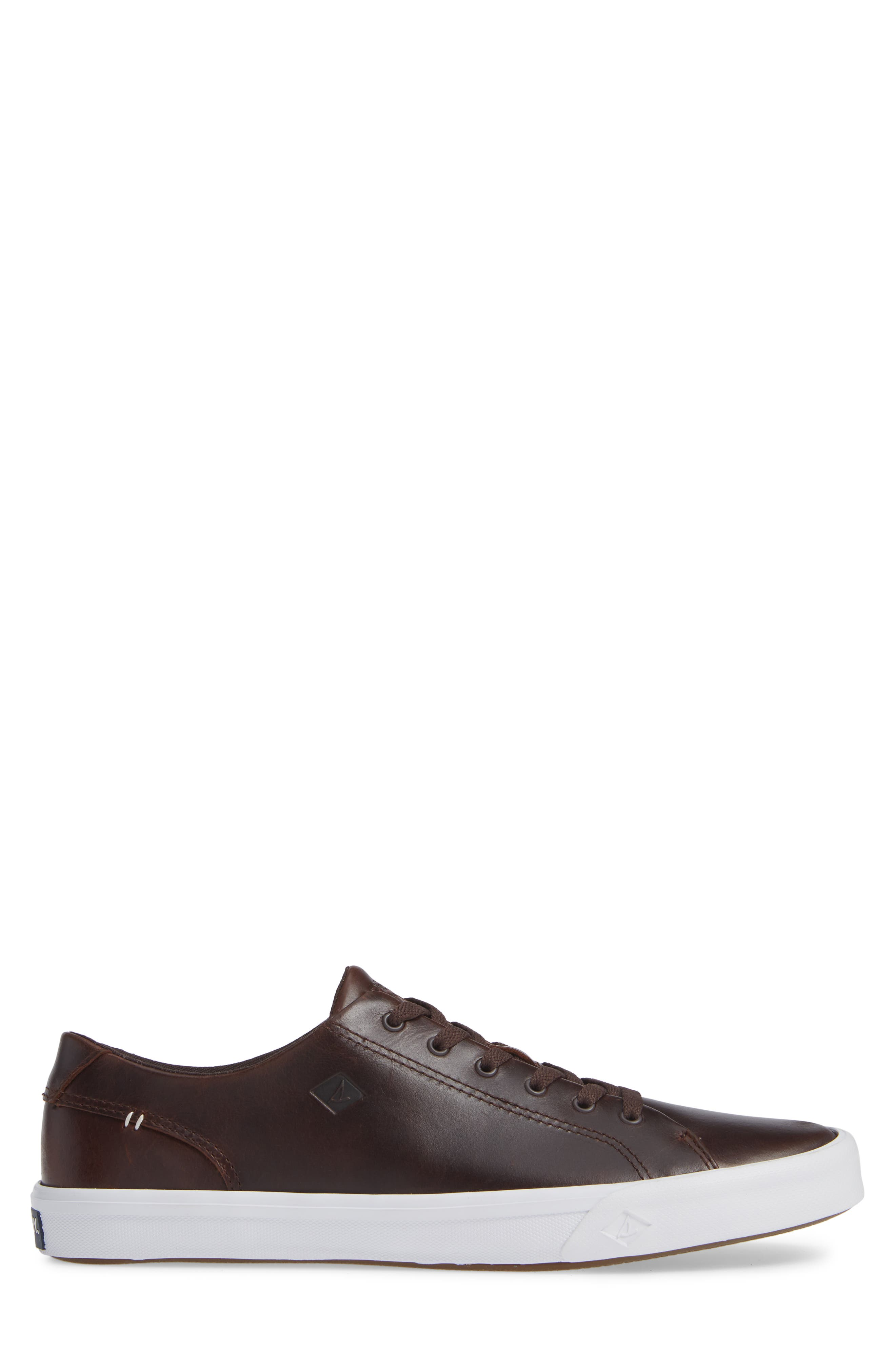 SPERRY, Striper II Sneaker, Alternate thumbnail 3, color, AMARETTO LEATHER