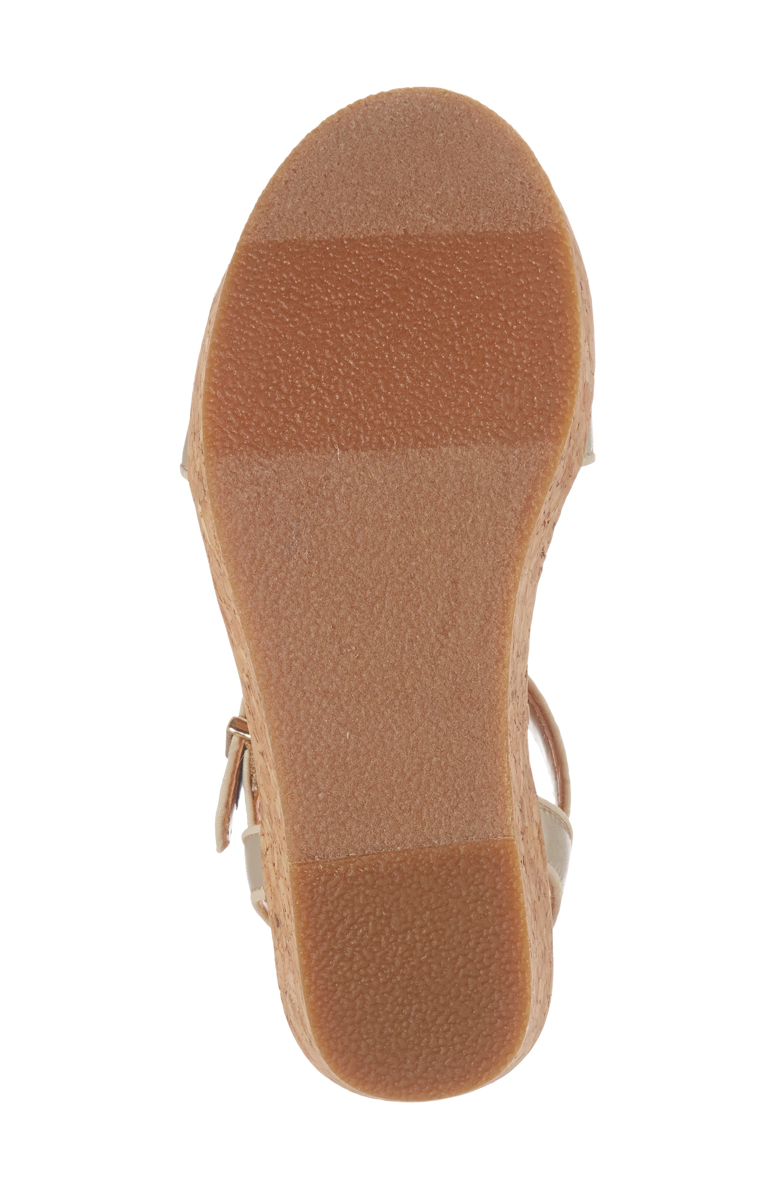 UGG<SUP>®</SUP>, Milley Wedge Sandal, Alternate thumbnail 6, color, GOLD