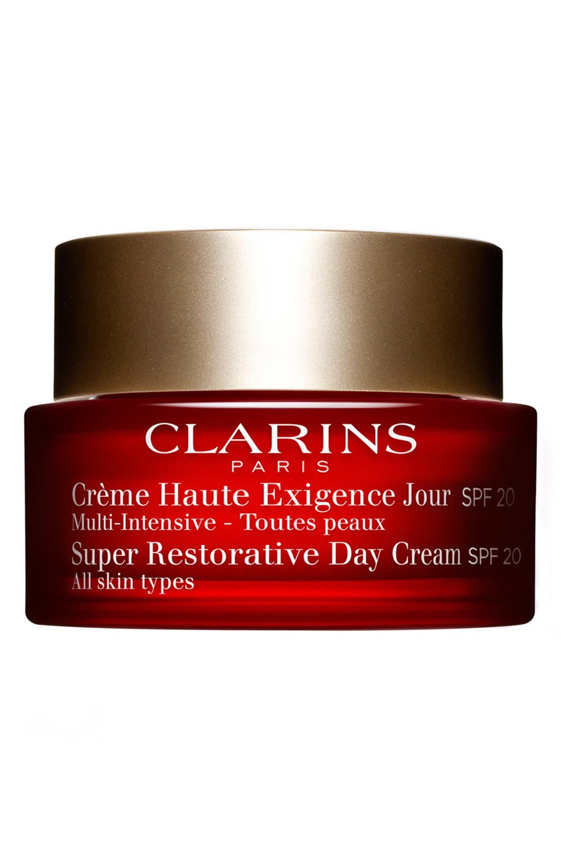 CLARINS, Super Restorative Day Illuminating Lifting Replenishing Cream SPF 20, Main thumbnail 1, color, NO COLOR